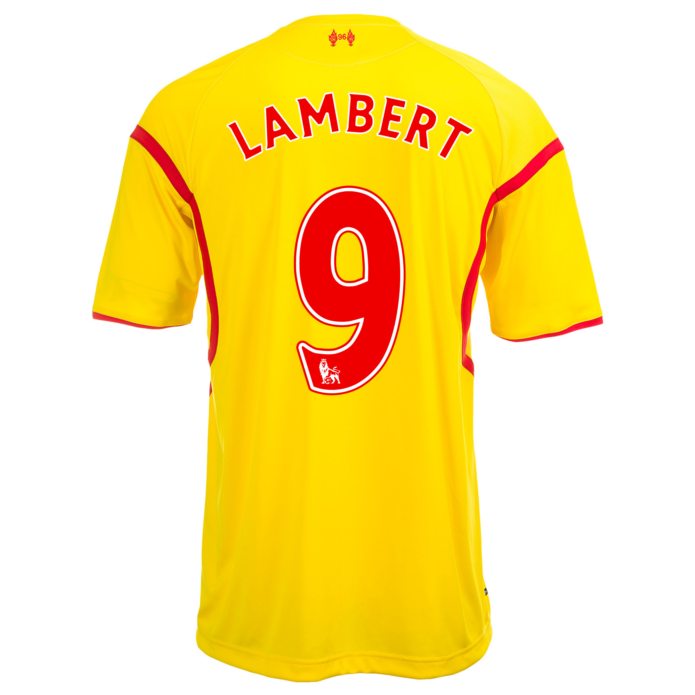 Liverpool Away Shirt 2014/15 with Lambert 9 printing