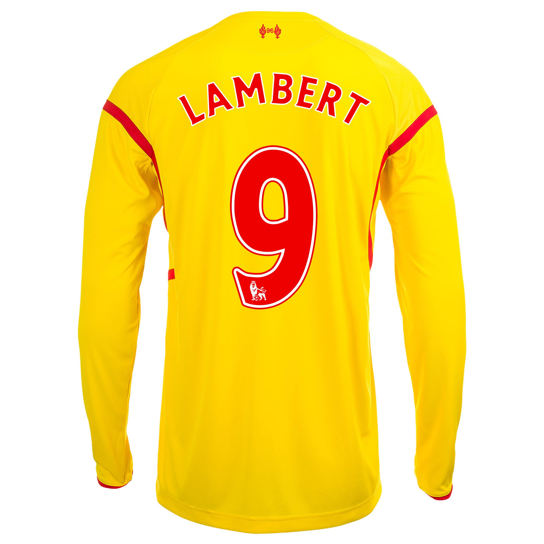 Liverpool Away Shirt 2014/15 Long Sleeve with Lambert 9 printing