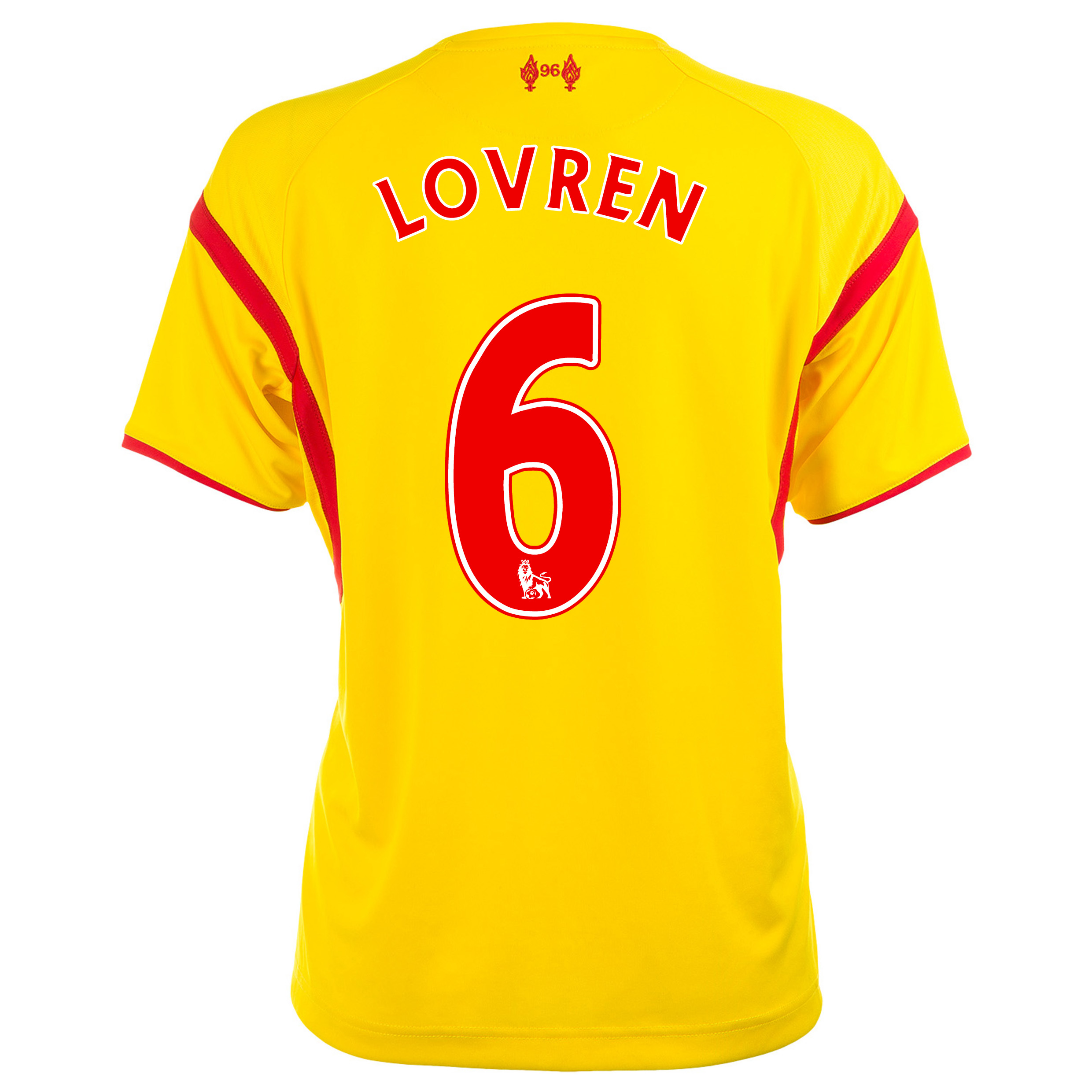 Liverpool Away Shirt 2014/15 Womens with Lovren 6 printing