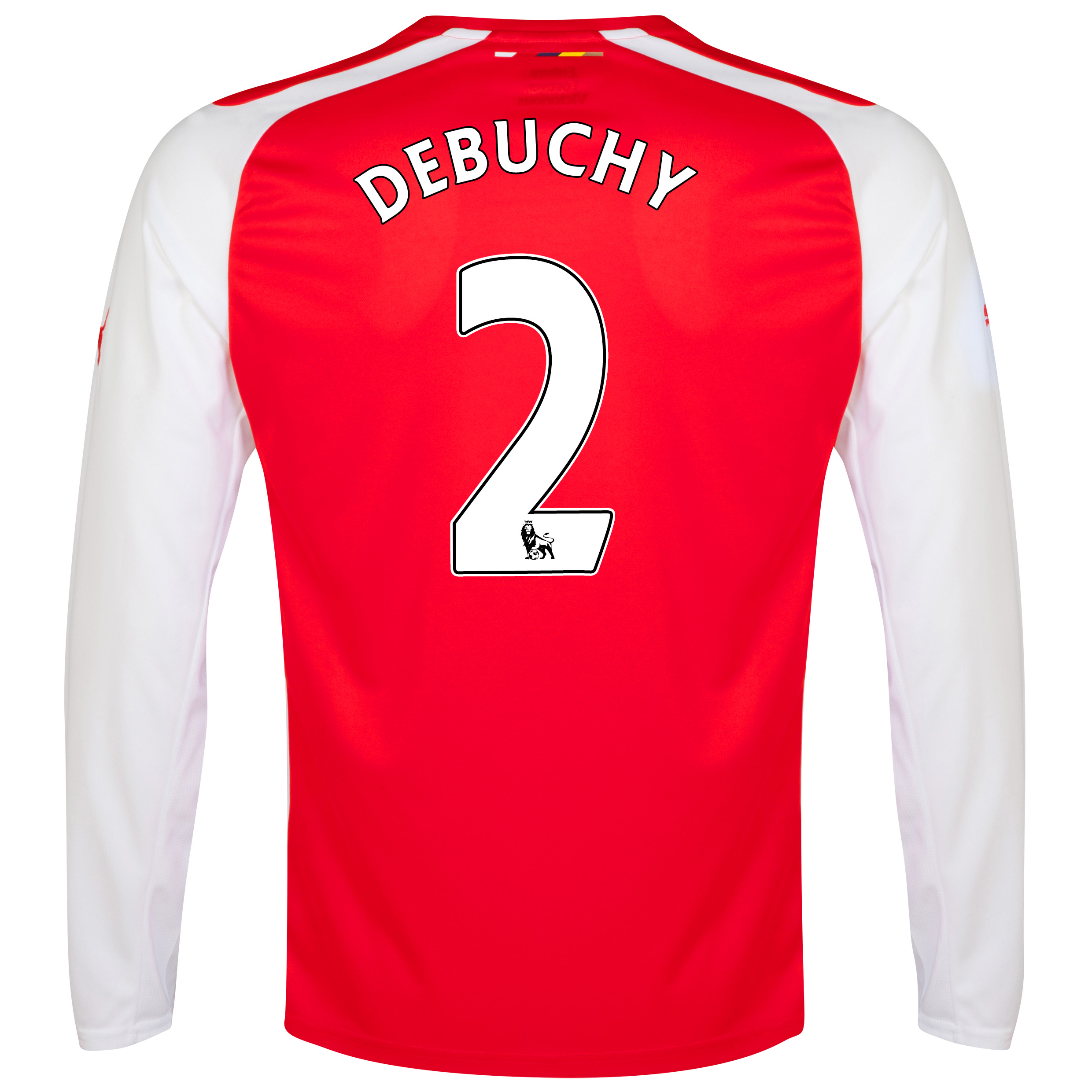 Arsenal Home Shirt 2014/15 - Long Sleeve - Kids with Debuchy 2 printing