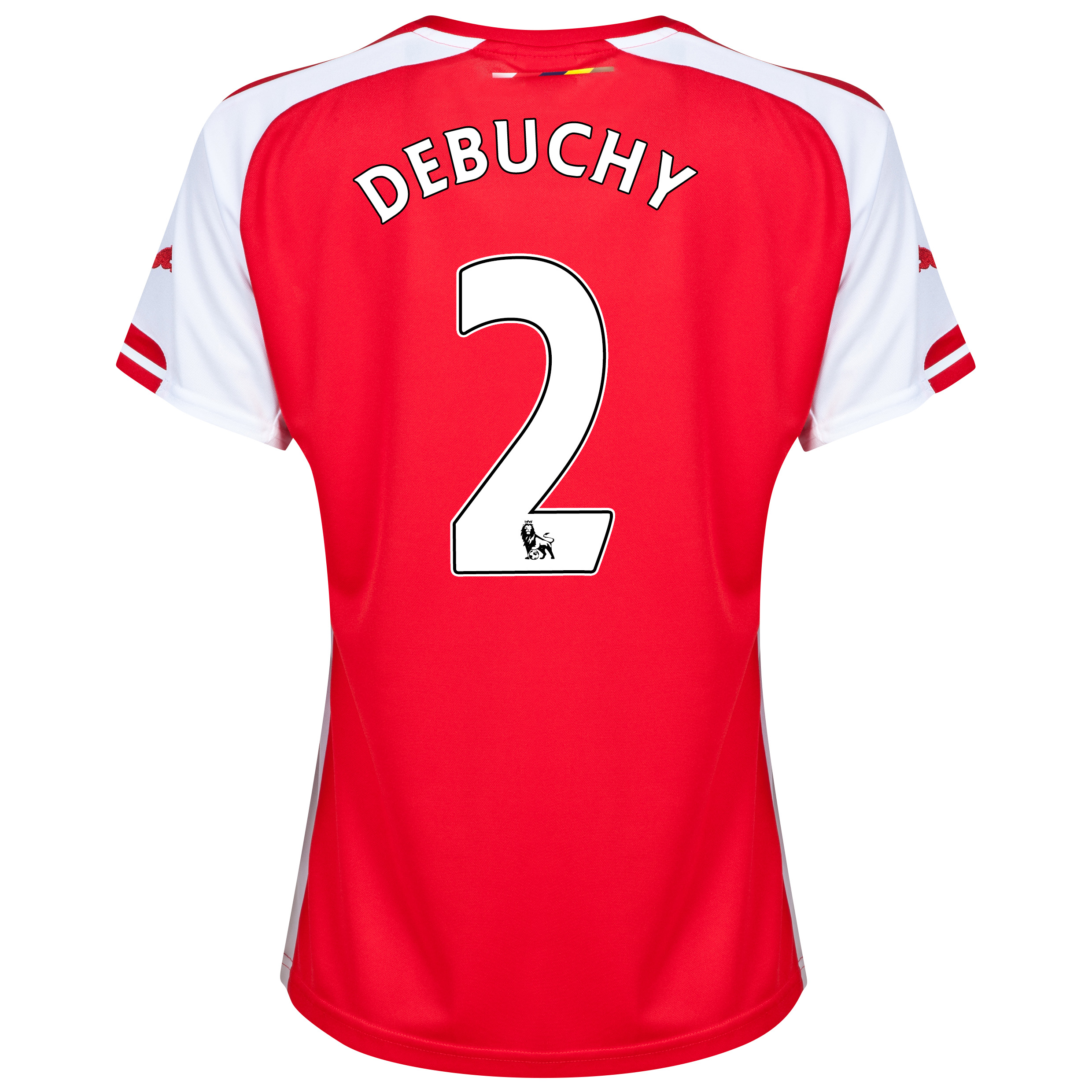 Arsenal Home Shirt 2014/15 - Womens with Debuchy 2 printing