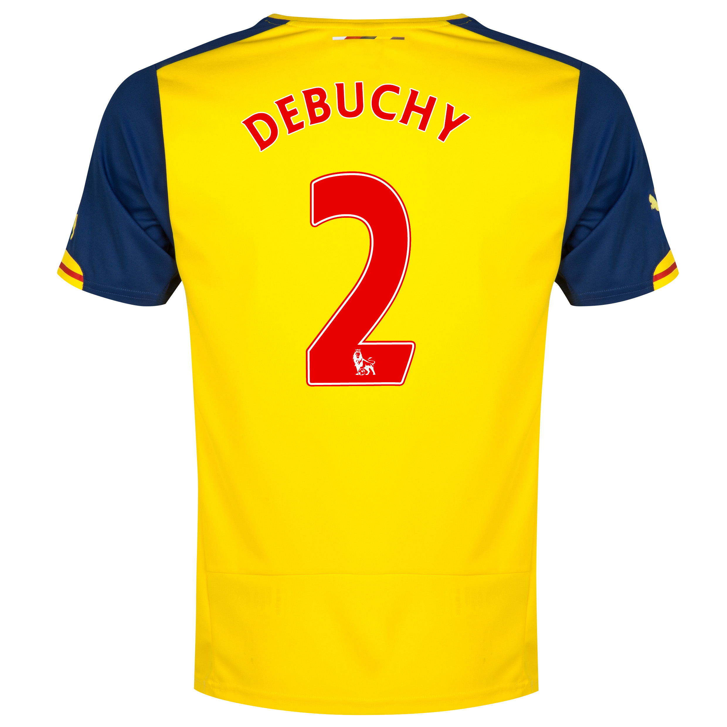 Arsenal Away Shirt 2014/15 - Kids Yellow with Debuchy 2 printing