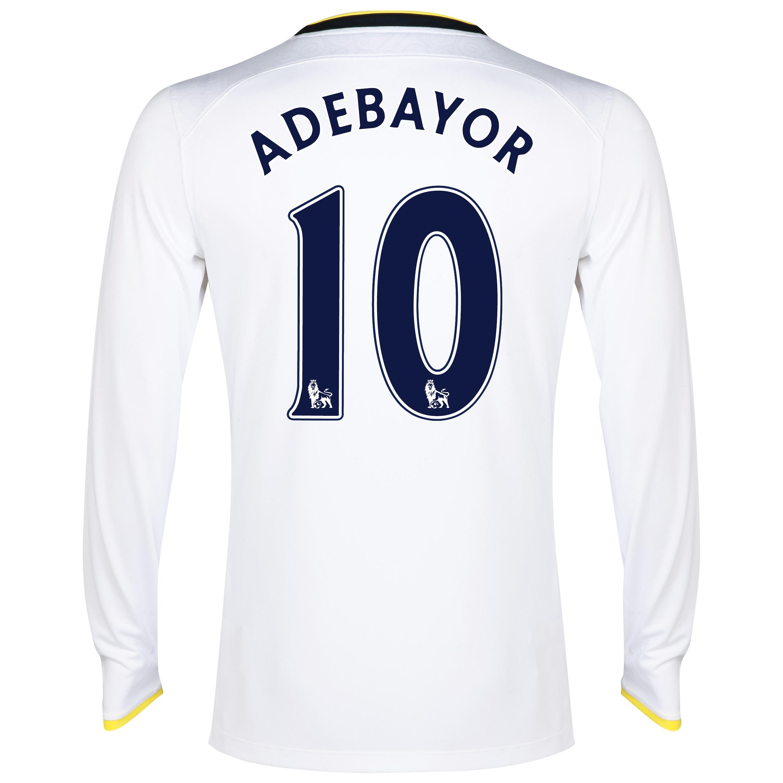 Tottenham Hotspur Home Shirt 2014/15 - Long Sleeve with Adebayor 10 printing