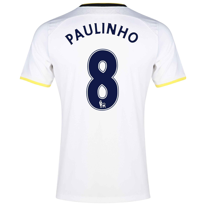Tottenham Hotspur Home Shirt 2014/15 - Kids with Paulinho 8 printing