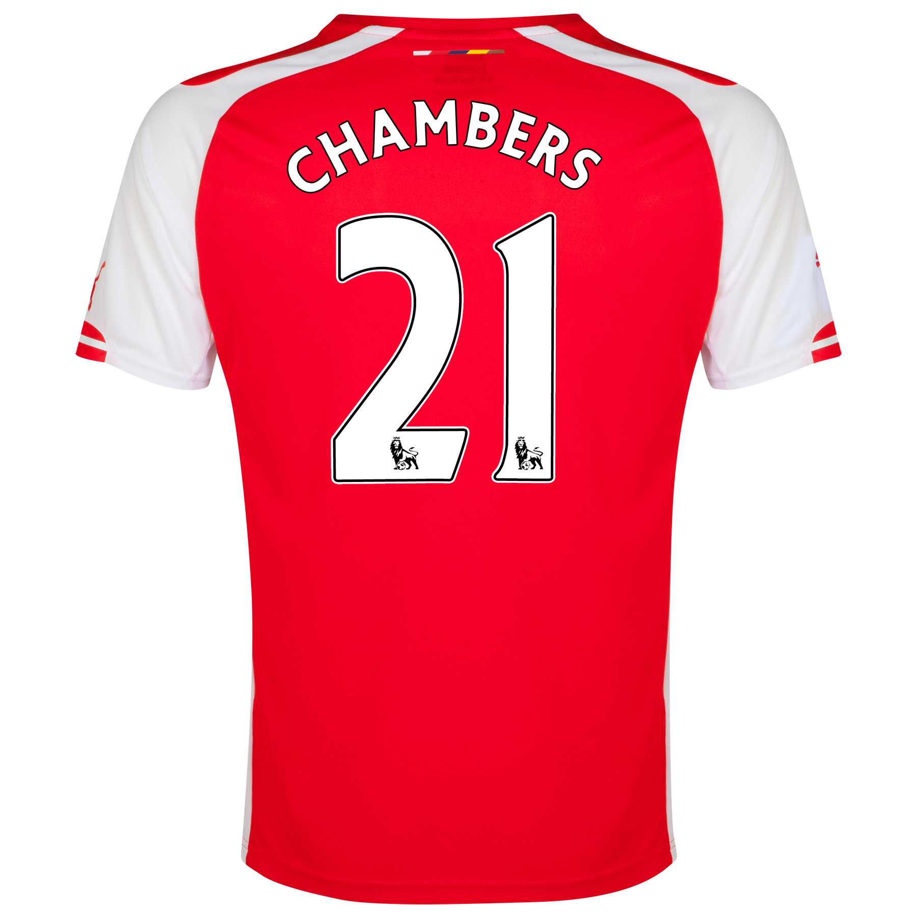 Arsenal Home Shirt 2014/15 with Chambers 21 printing