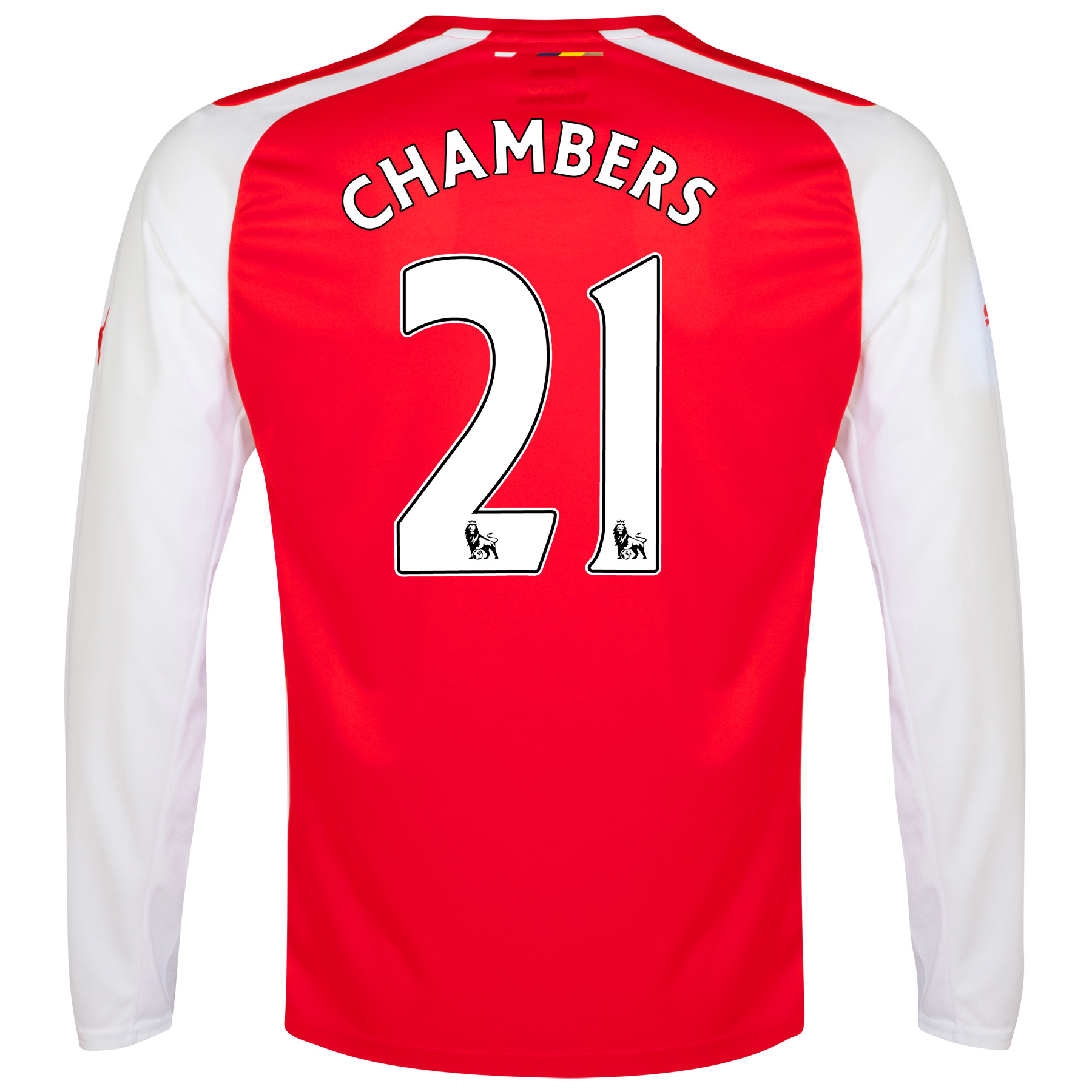 Arsenal Home Shirt 2014/15 - Long Sleeve with Chambers 21 printing
