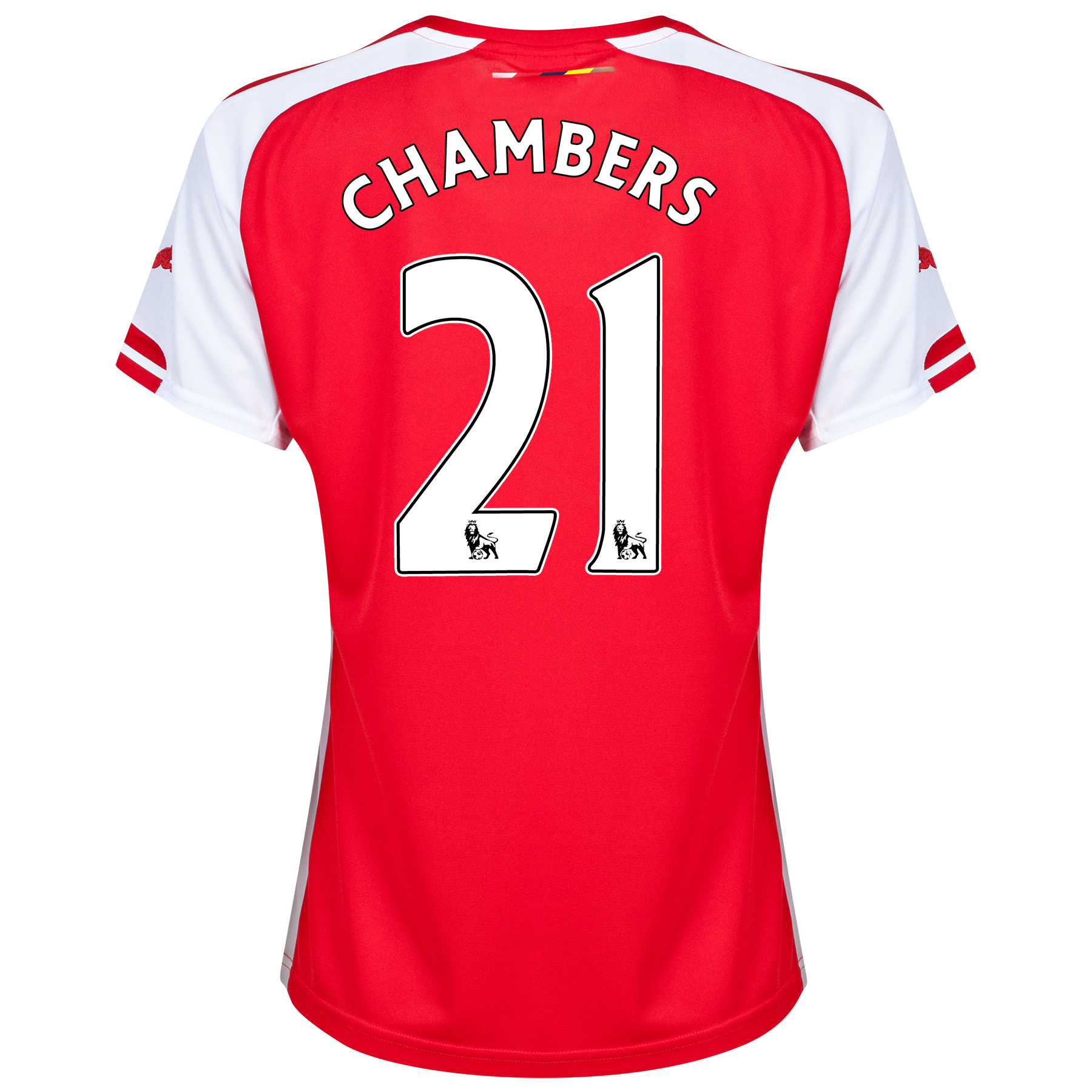 Arsenal Home Shirt 2014/15 - Womens with Chambers 21 printing