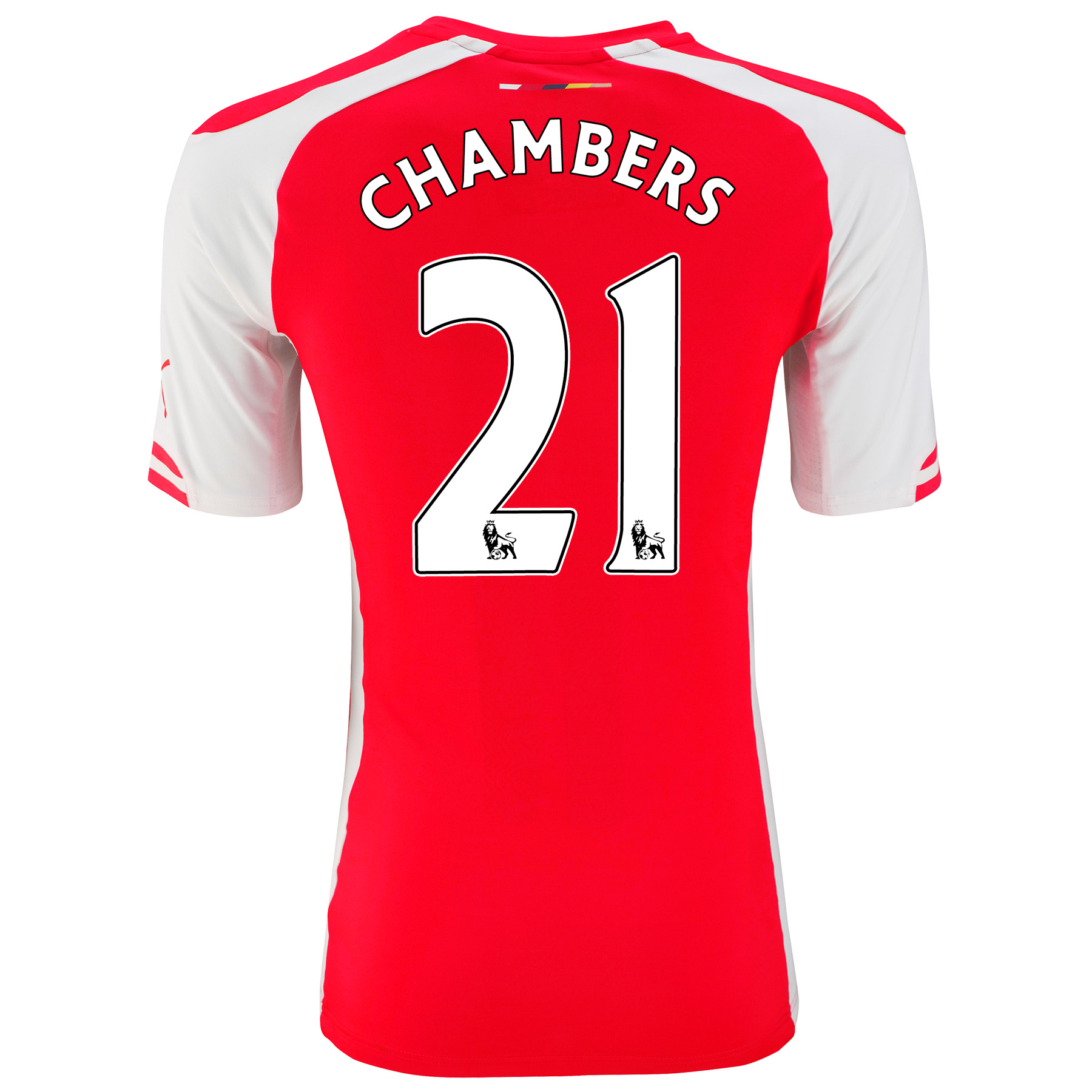 Arsenal Authentic Home Shirt 2014/15 with Chambers 21 printing