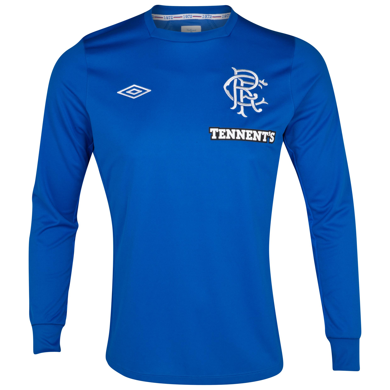 Glasgow Rangers Home Shirt 2012/13 - Long Sleeve