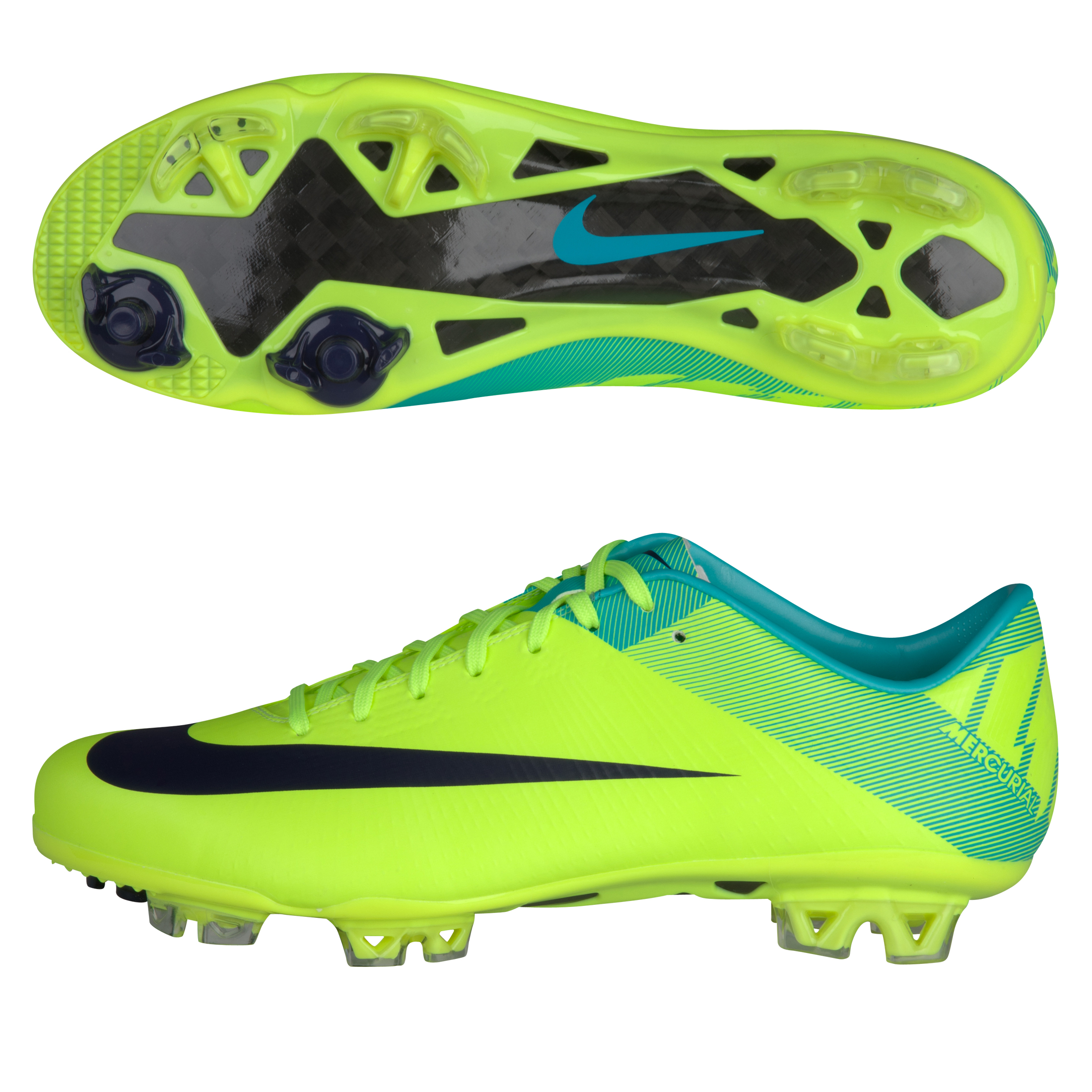 Nike Mercurial Vapor Superfly III Firm Ground Football Boots - Volt/Imperial Purple-Retro
