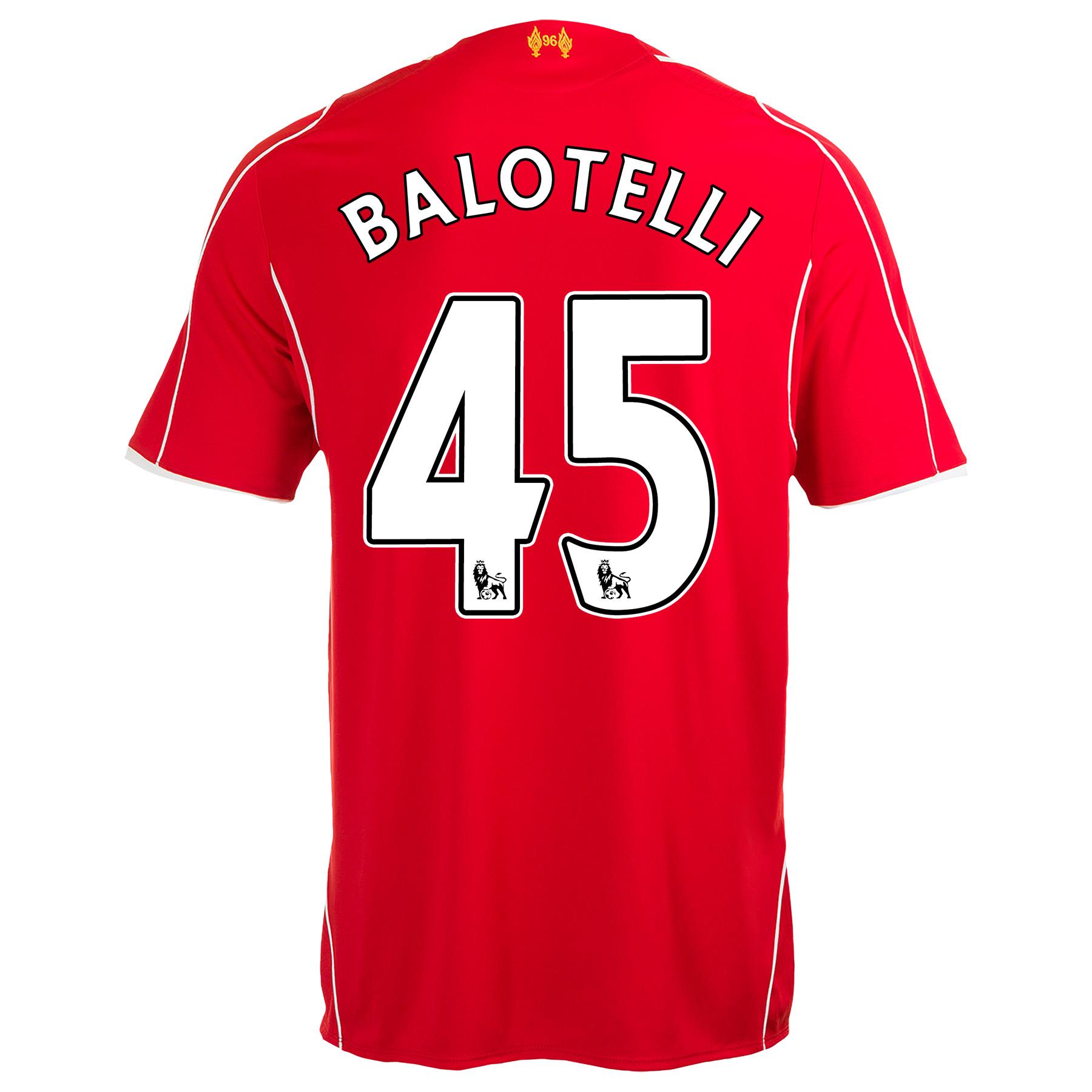 Liverpool Home Shirt 2014/15 Kids with Balotelli 45 printing