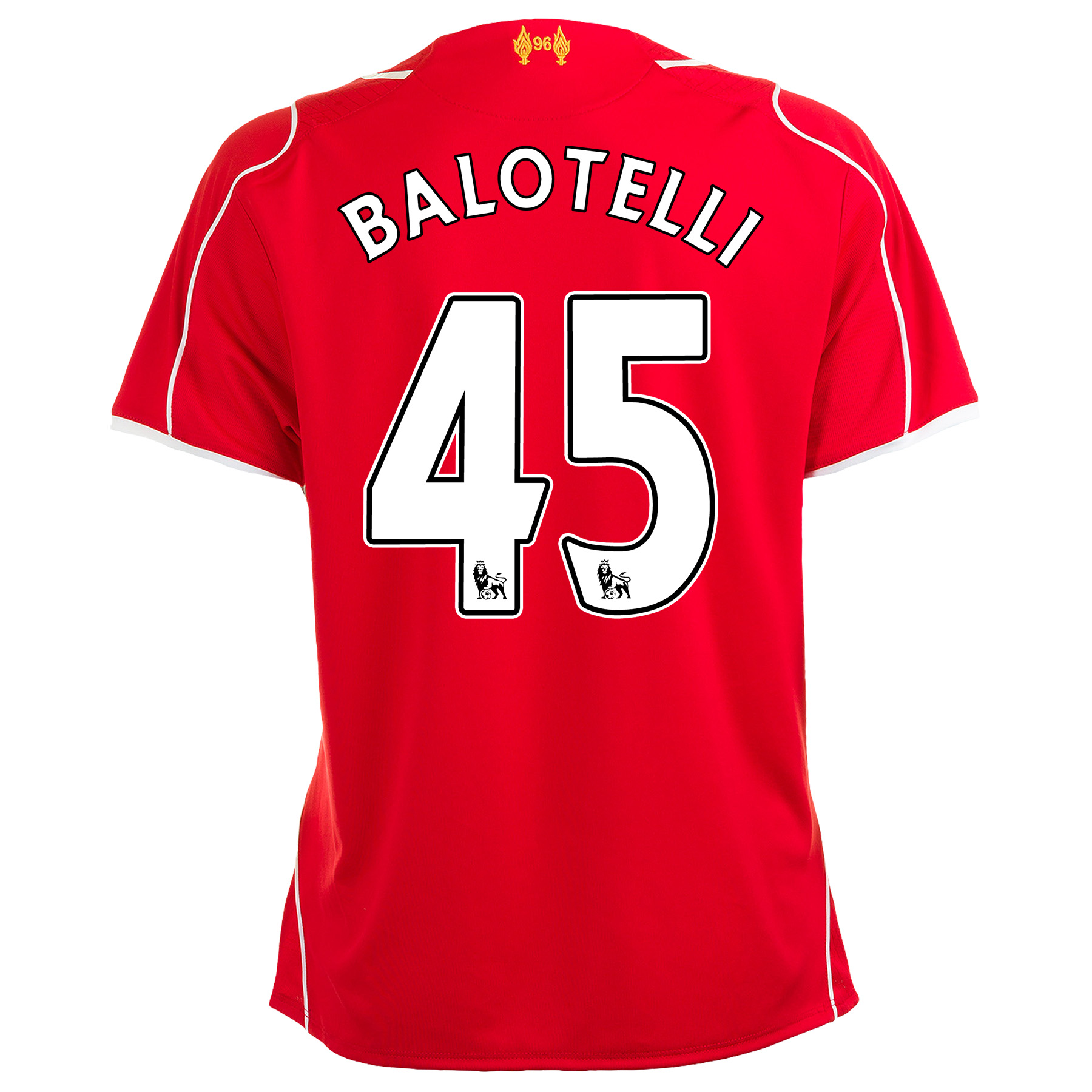 Liverpool Home Shirt 2014/15 Womens with Balotelli 45 printing
