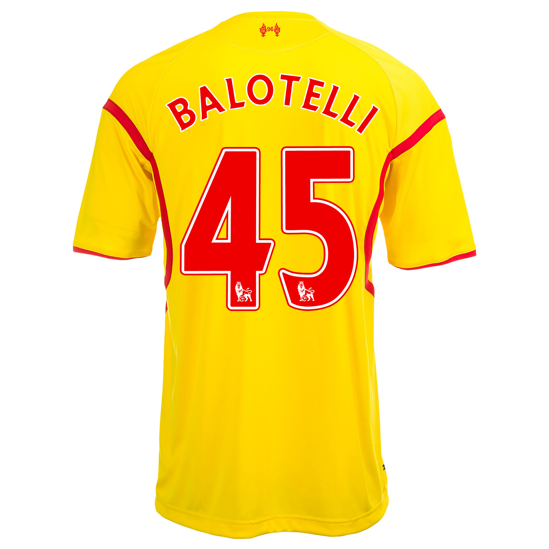 Liverpool Away Shirt 2014/15 with Balotelli 45 printing