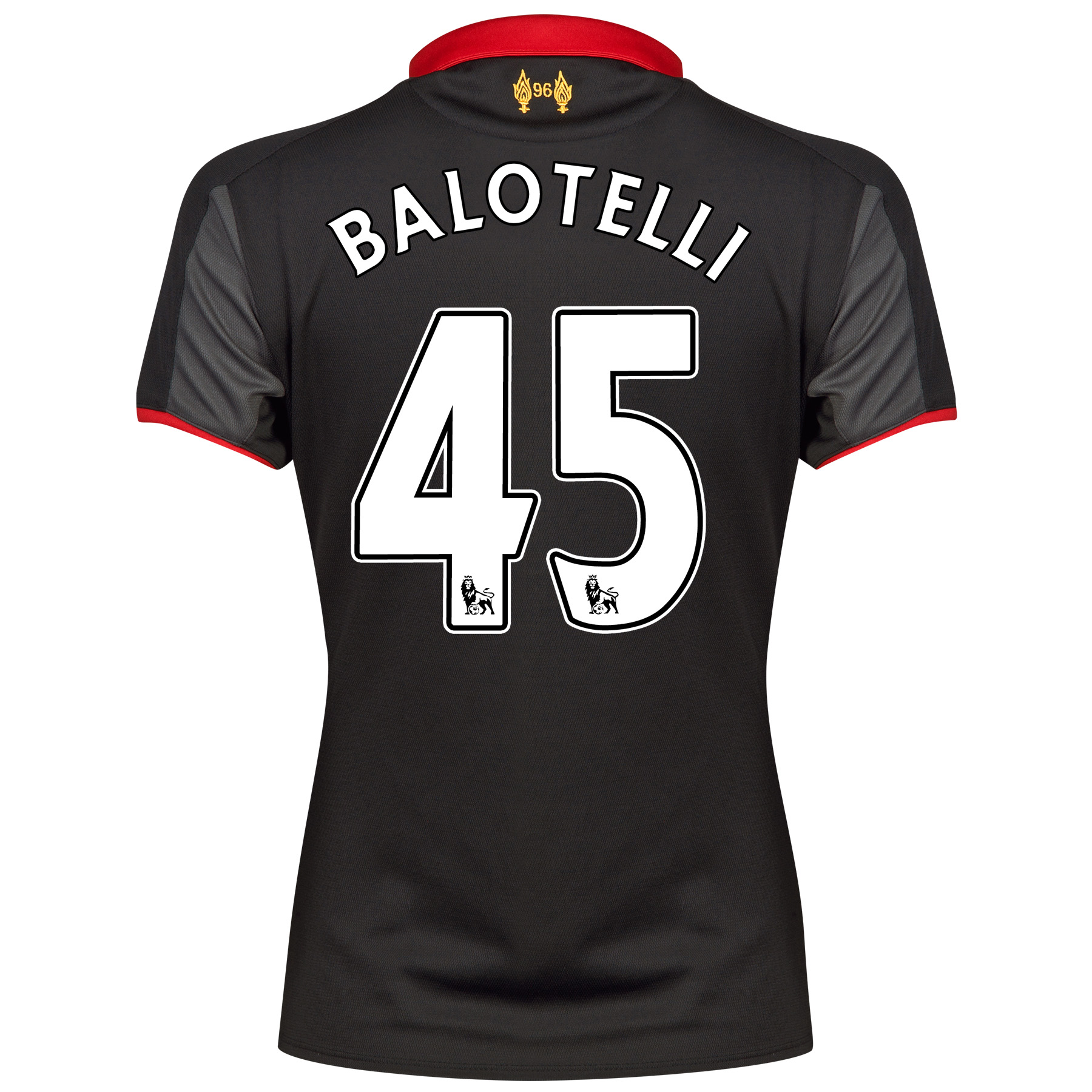 Liverpool Third Shirt 2014/15 - Womens Black with Balotelli 45 printing
