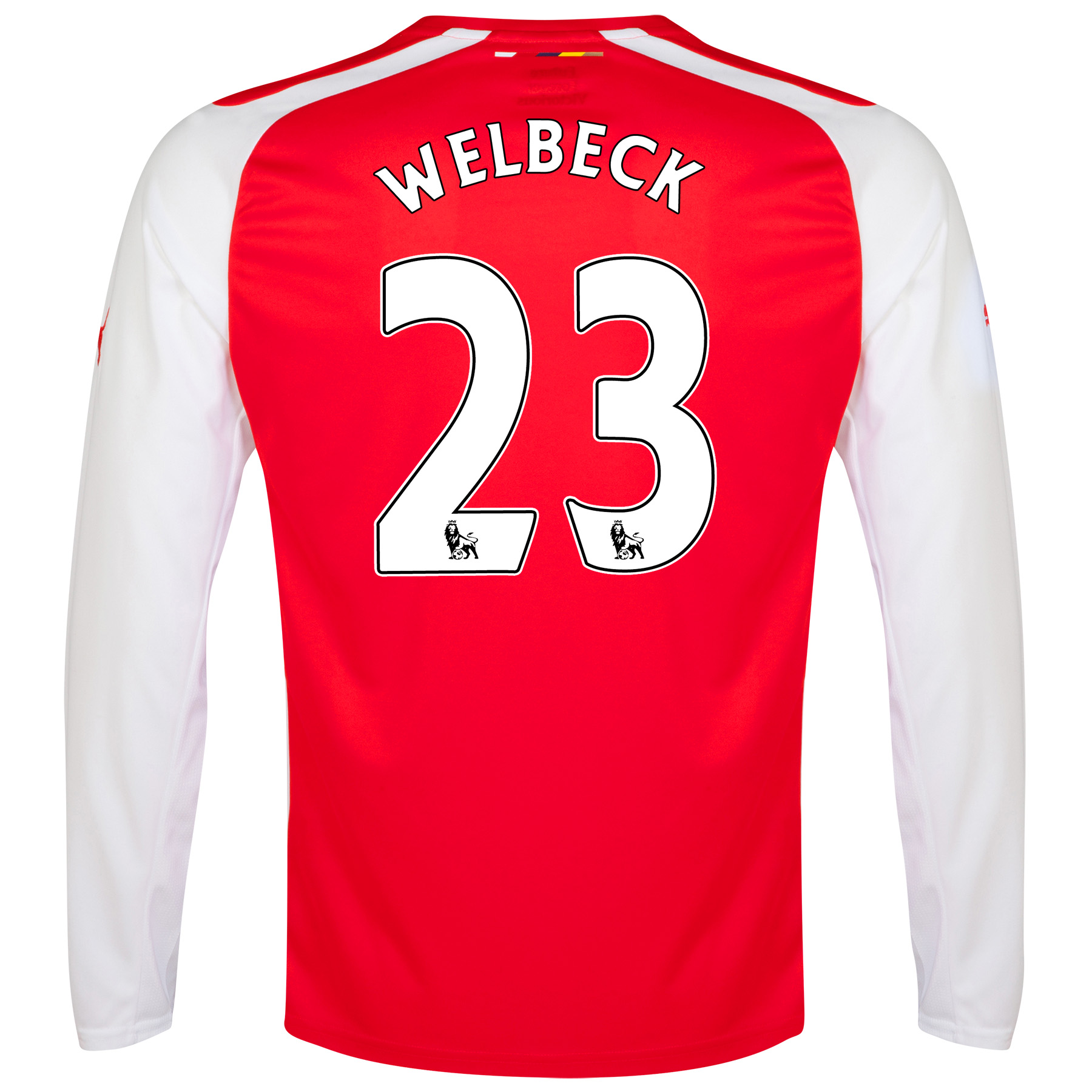 Arsenal Home Shirt 2014/15 - Long Sleeve - Kids with Welbeck 23 printing