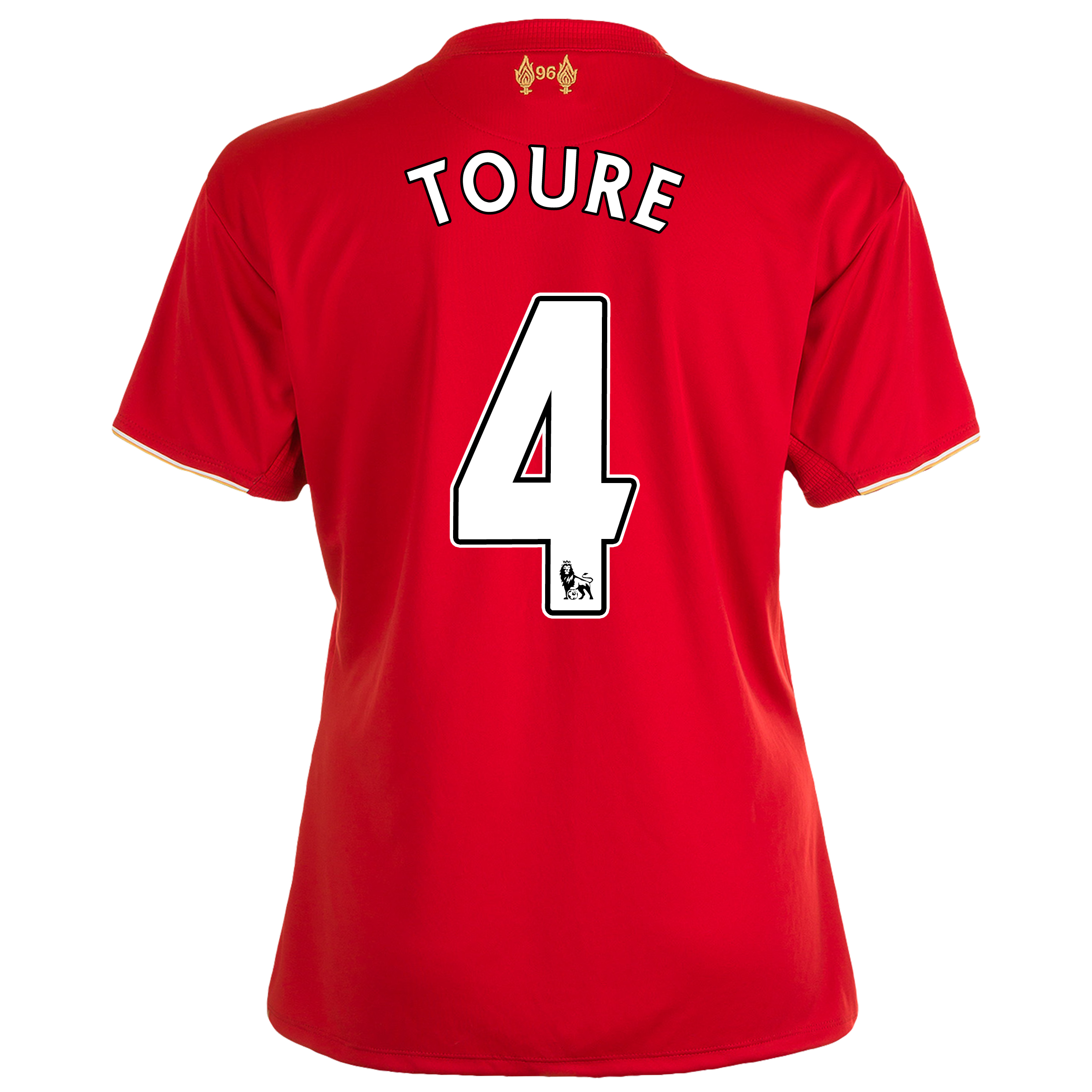 Liverpool Home Shirt 201516  Womens Red with Toure 4 printing
