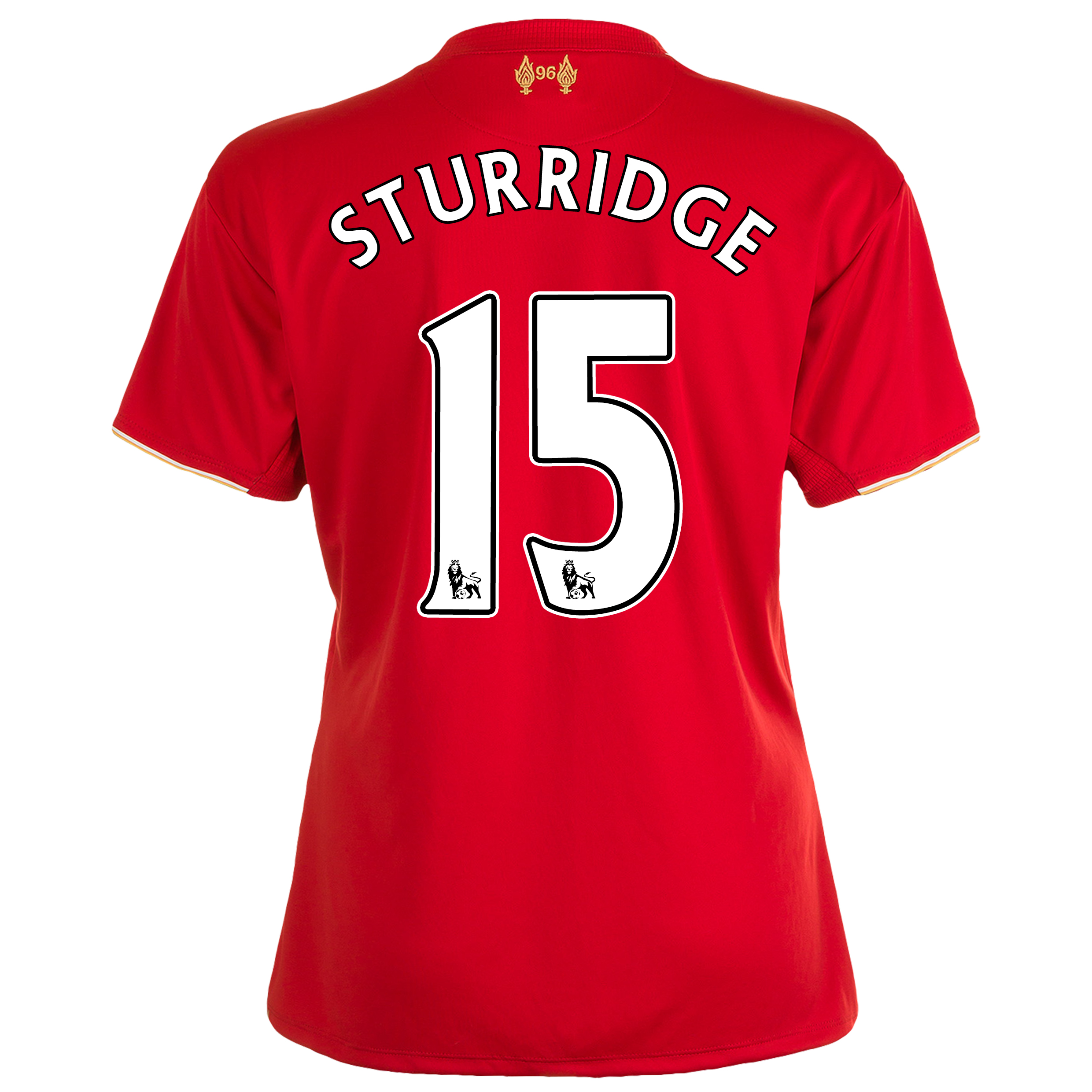 Liverpool Home Shirt 201516  Womens Red with Sturridge 15 printing