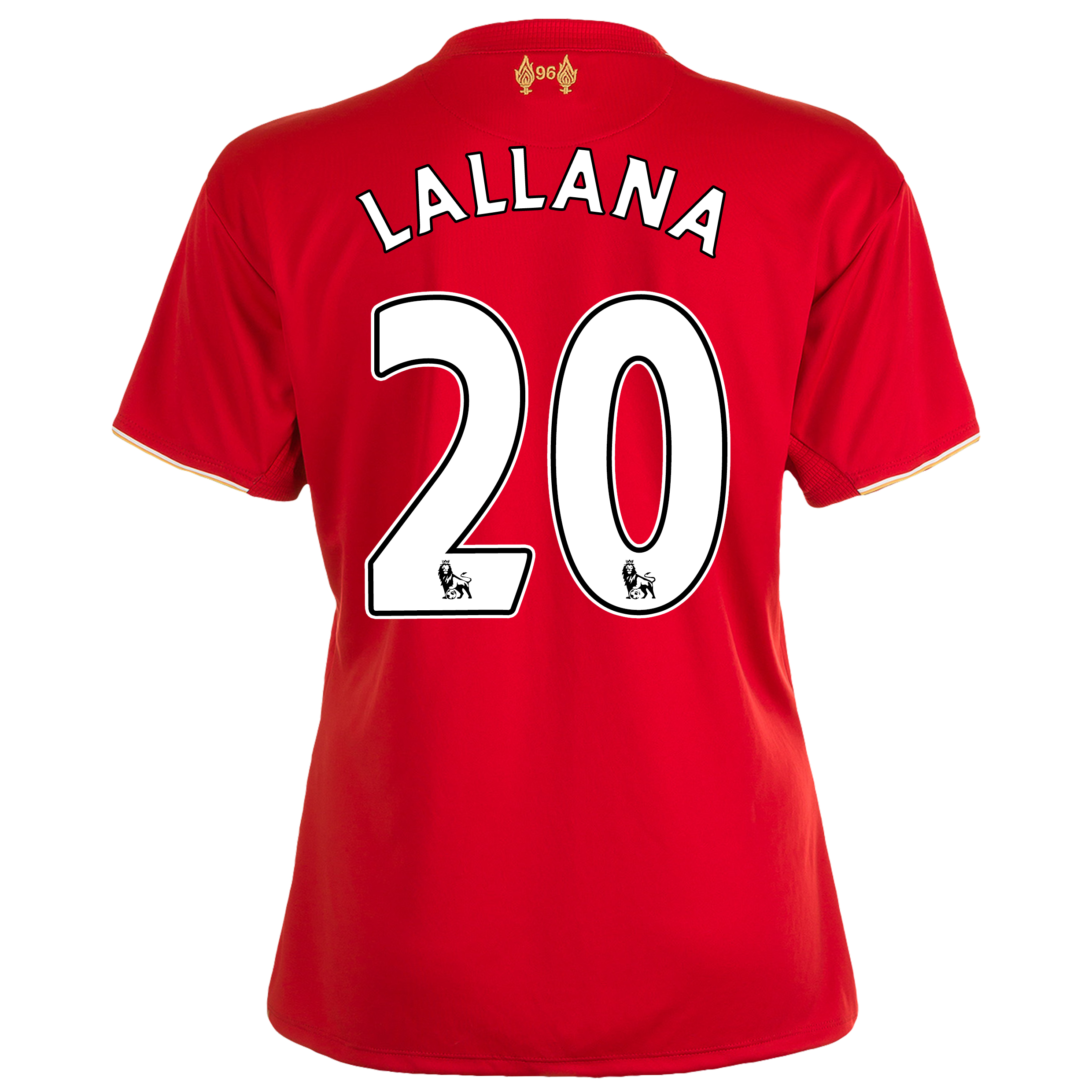 Liverpool Home Shirt 201516  Womens Red with Lallana 20 printing