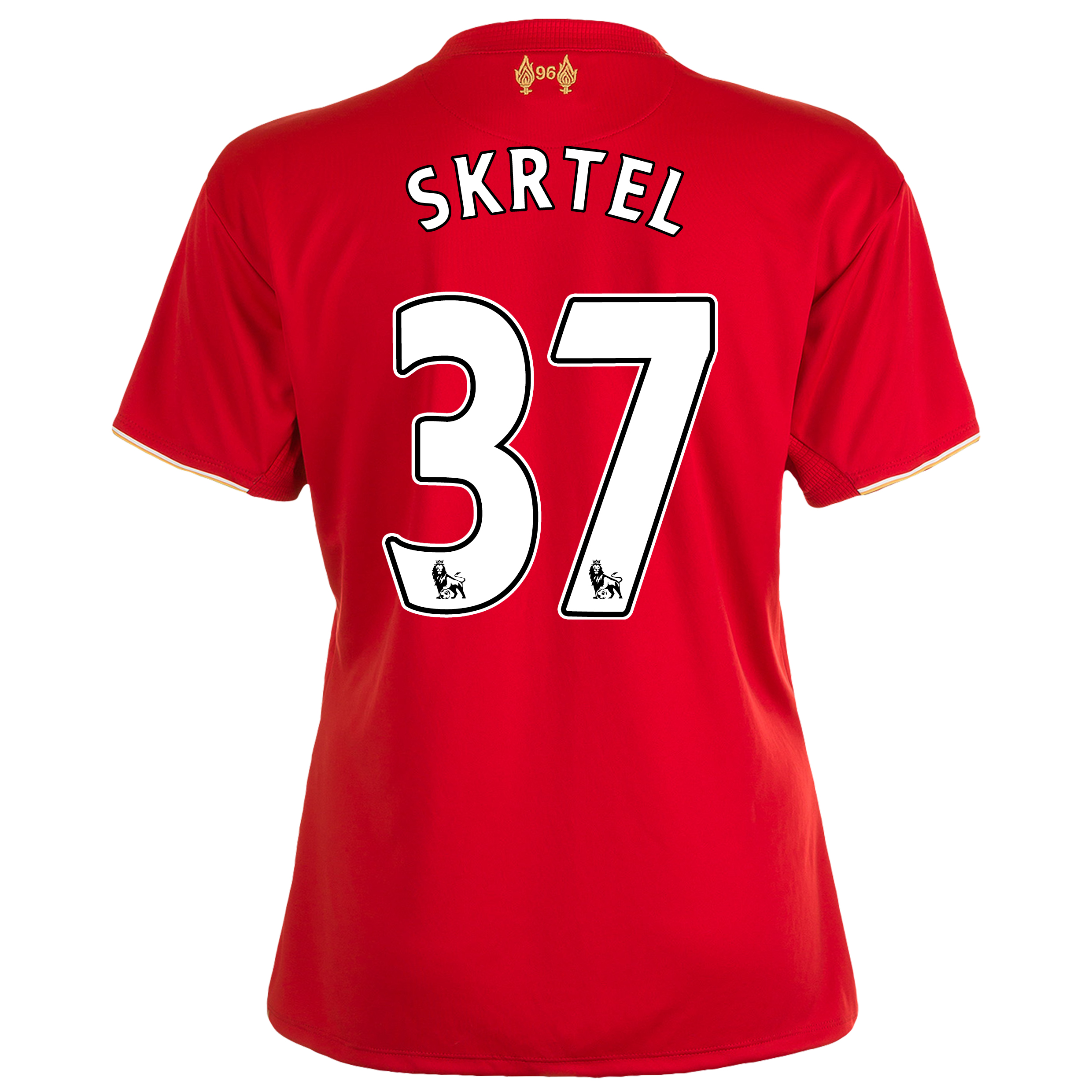 Liverpool Home Shirt 201516  Womens Red with Skrtel 37 printing