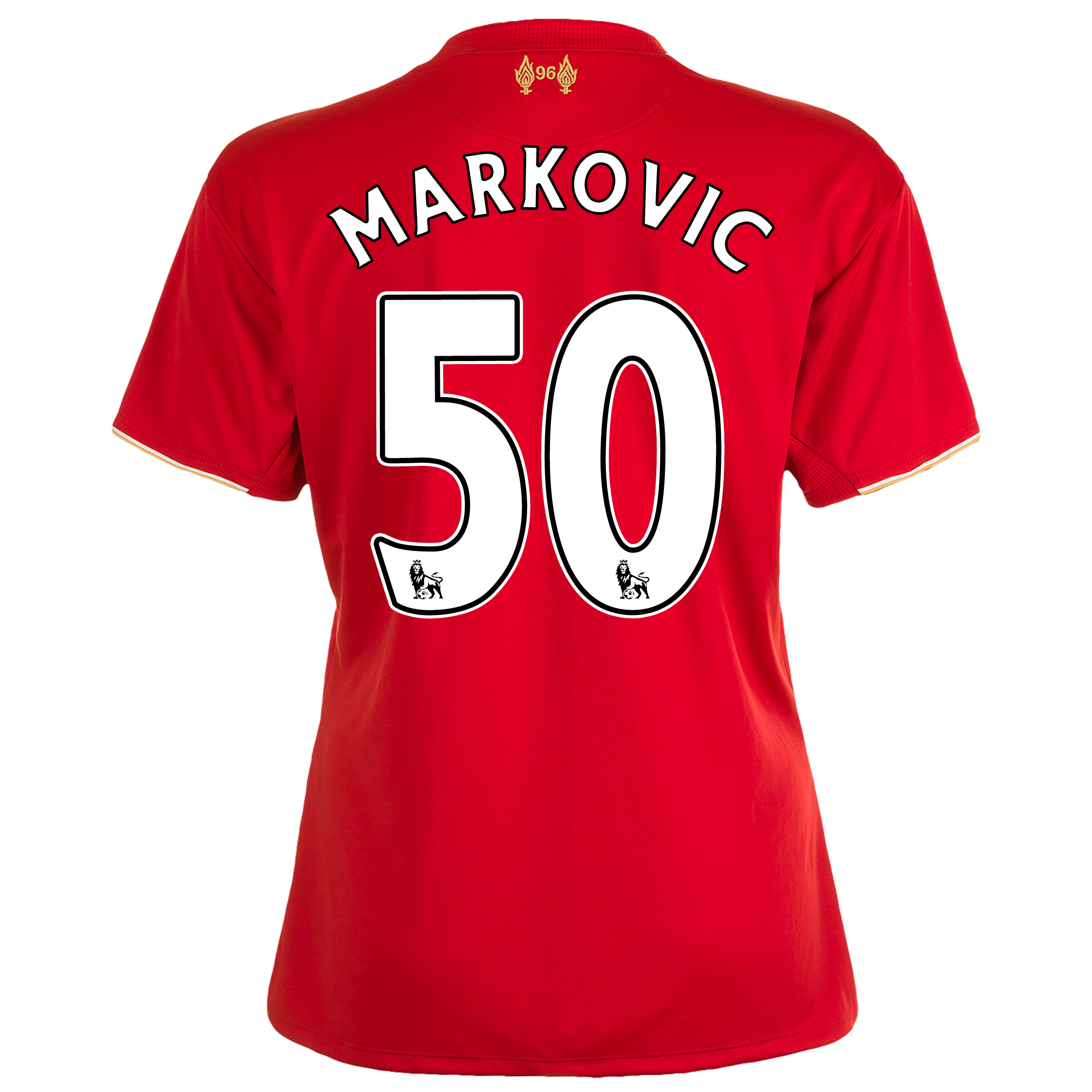 Liverpool Home Shirt 201516  Womens Red with Markovic 50 printing