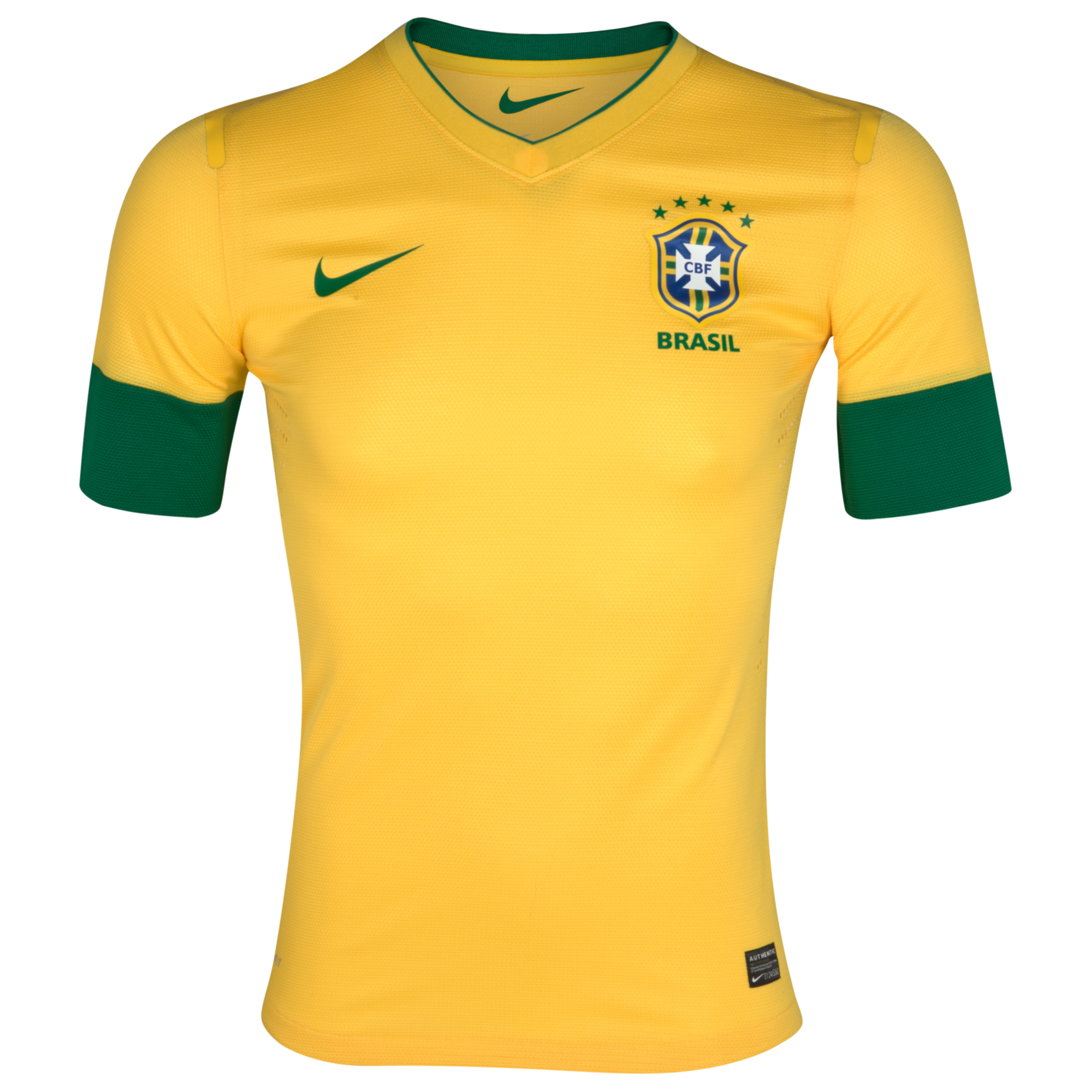 Brazil Home Authentic Shirt 2012/13