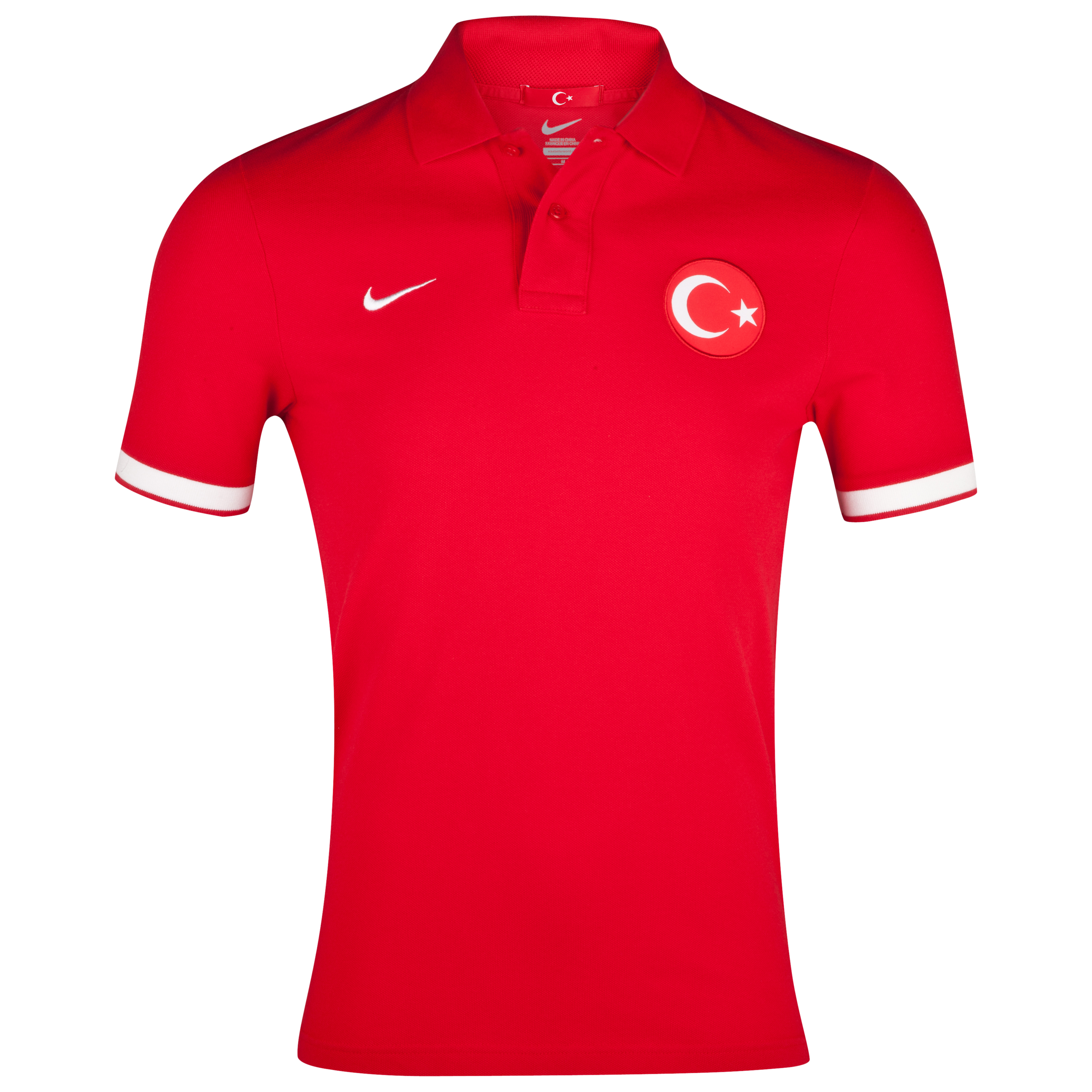 Turkey Authentic Grand Slam Polo - Sport Red/White