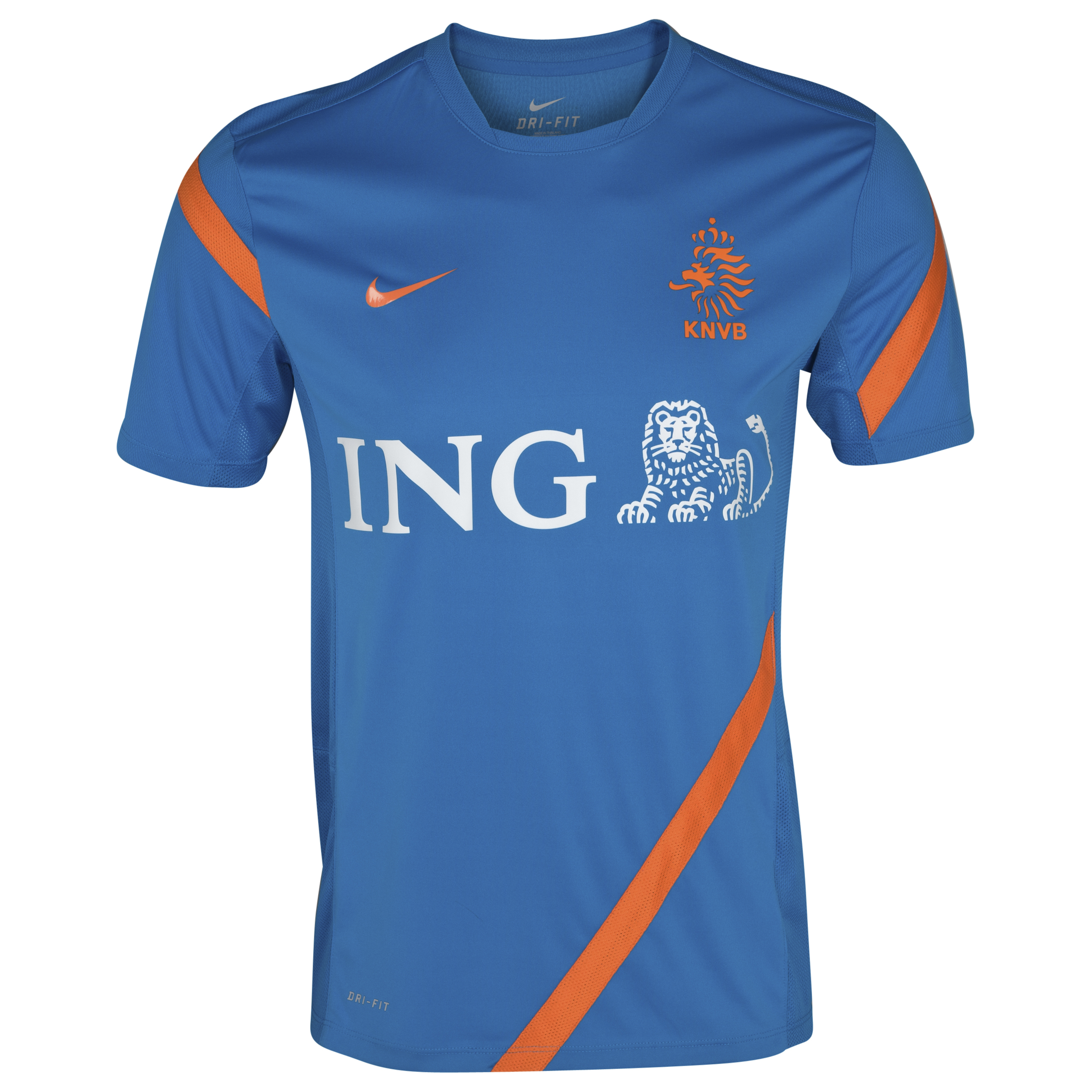Netherlands Training Top - Heriage Cyan/Safety Orange