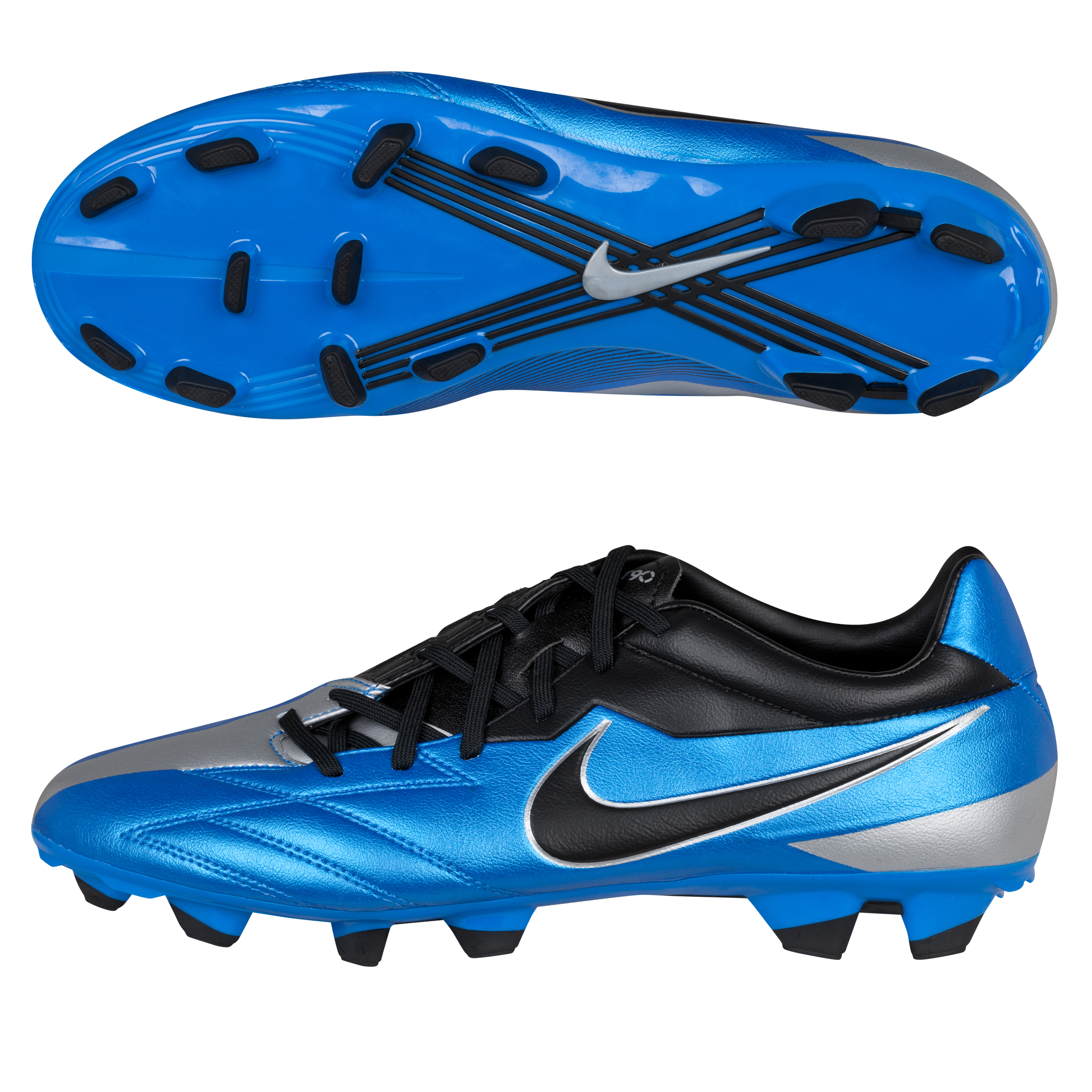 Nike T90 Strike IV Firm Ground Football Boots - Soar/Black/Metallic Silver