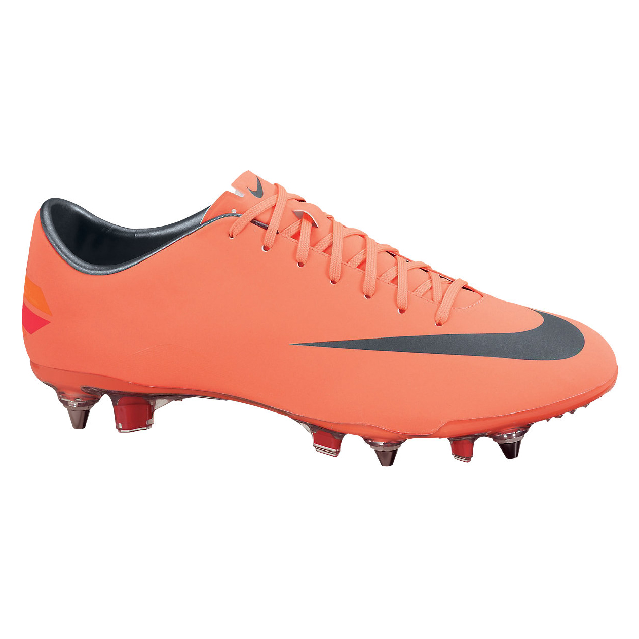 Nike Mercurial Vapor VIII Soft Ground Pro Football Boots - Bright Mango/Metalic Dark Grey