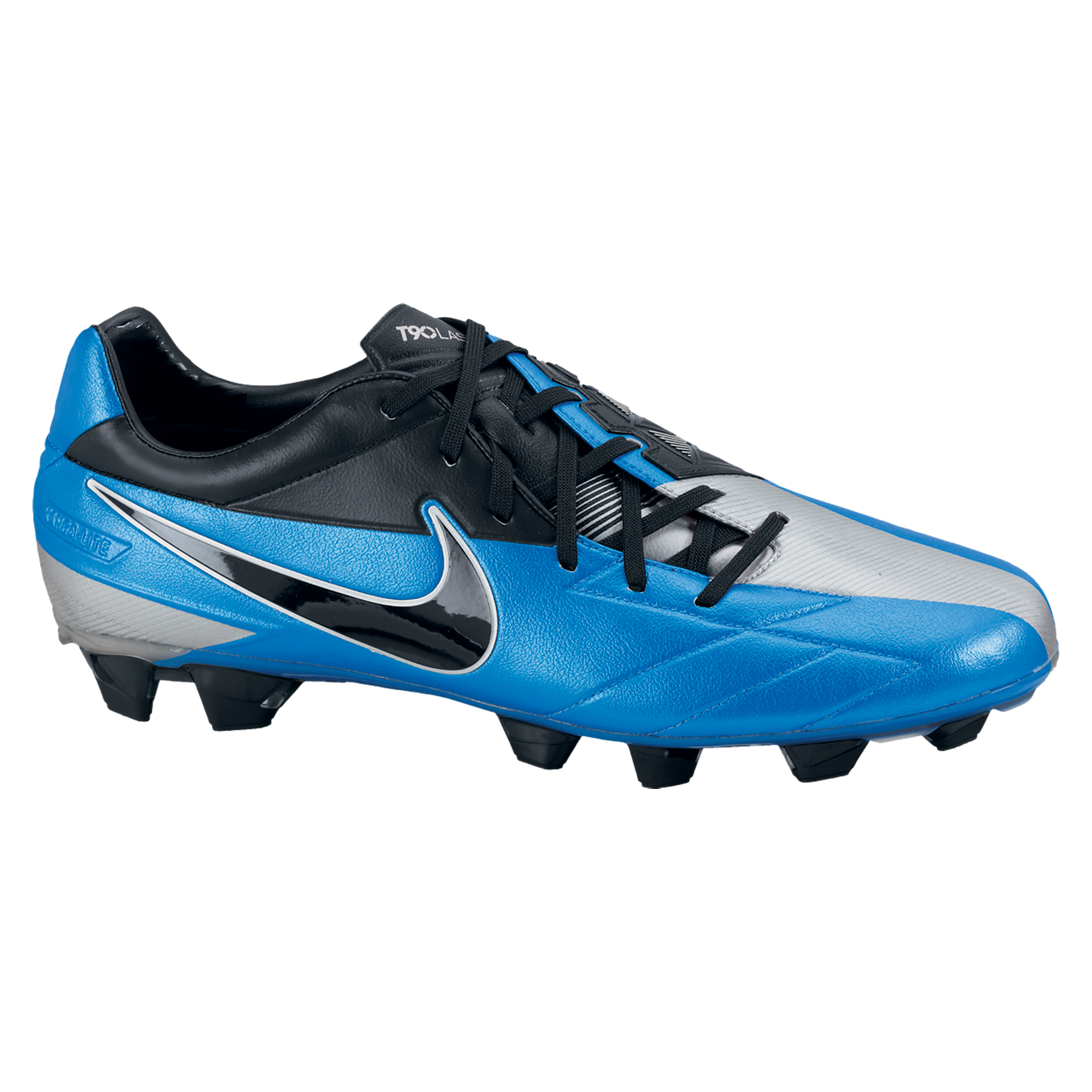 Nike T90 Laser IV KL-Firm Ground Football Boots - Soar/Black/Metallic Silver