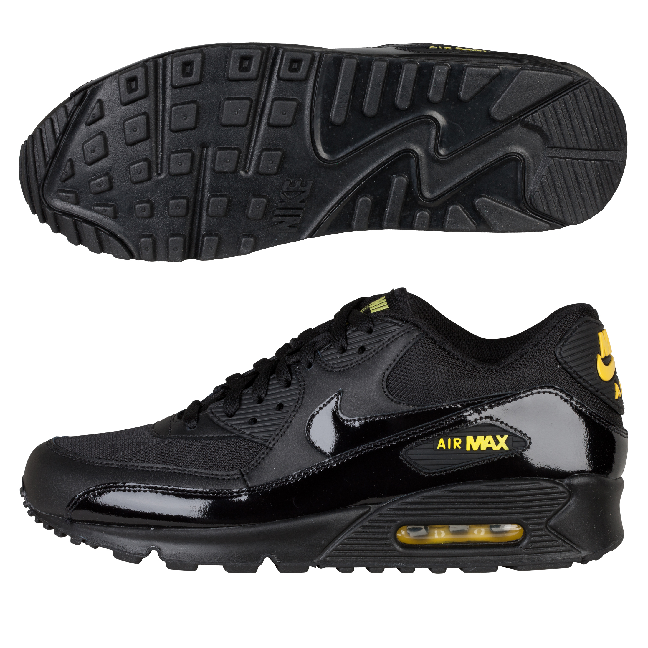 Nike Air Max 90 Trainers - Black/Black-Golden Sash