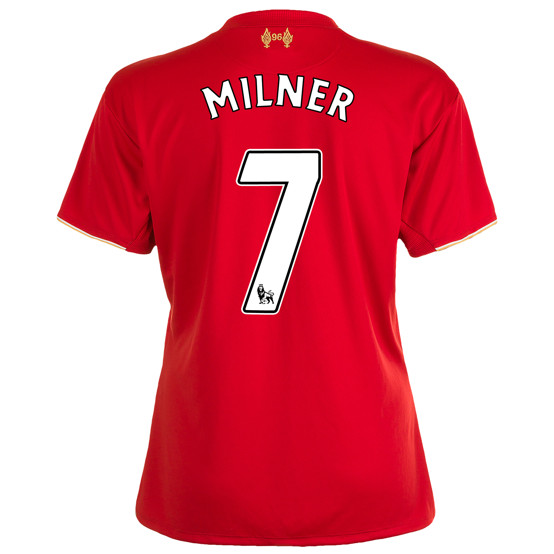 Liverpool Home Shirt 201516  Womens Red with Milner 7 printing