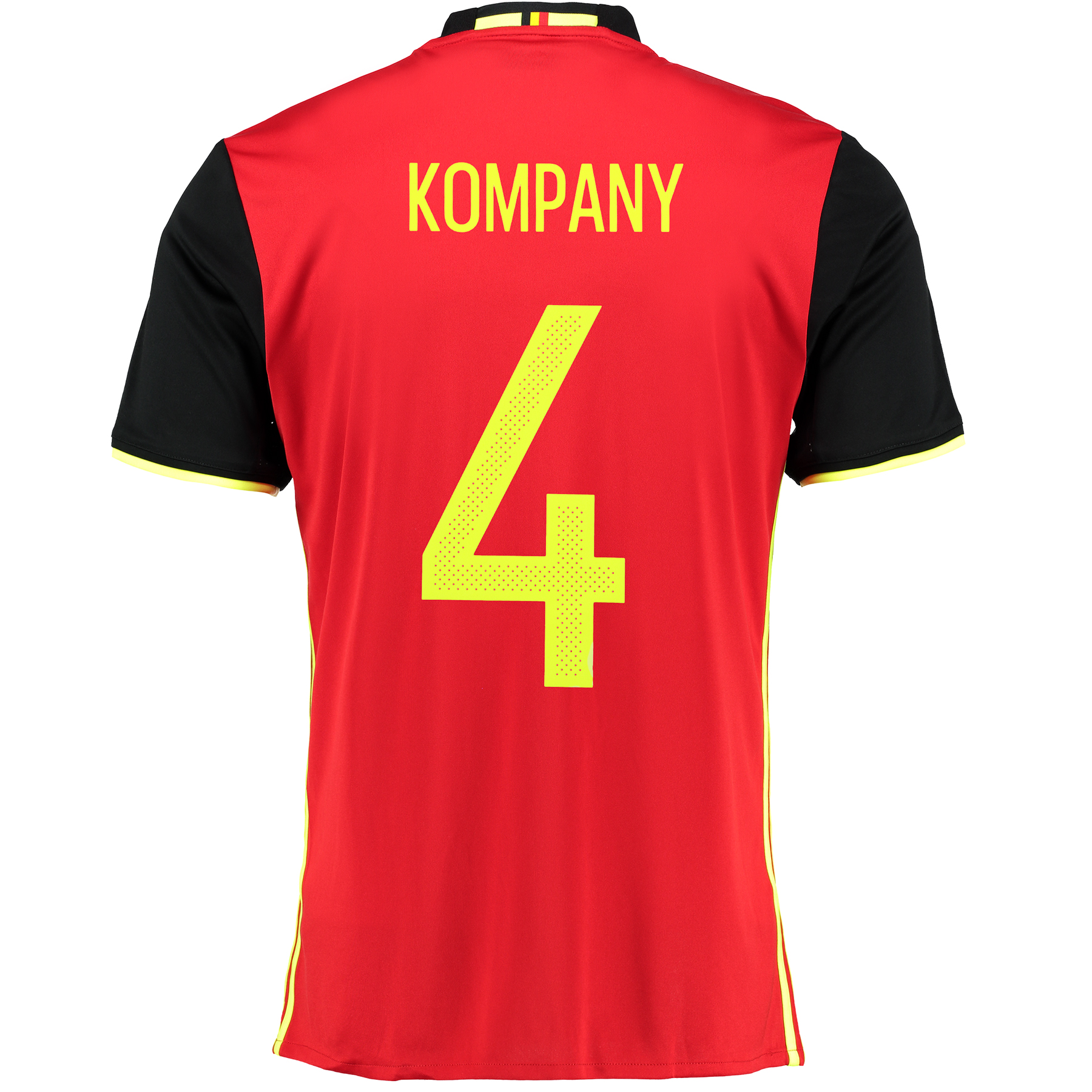 Belgium Home Shirt 2016 Red with Kompany 4 printing