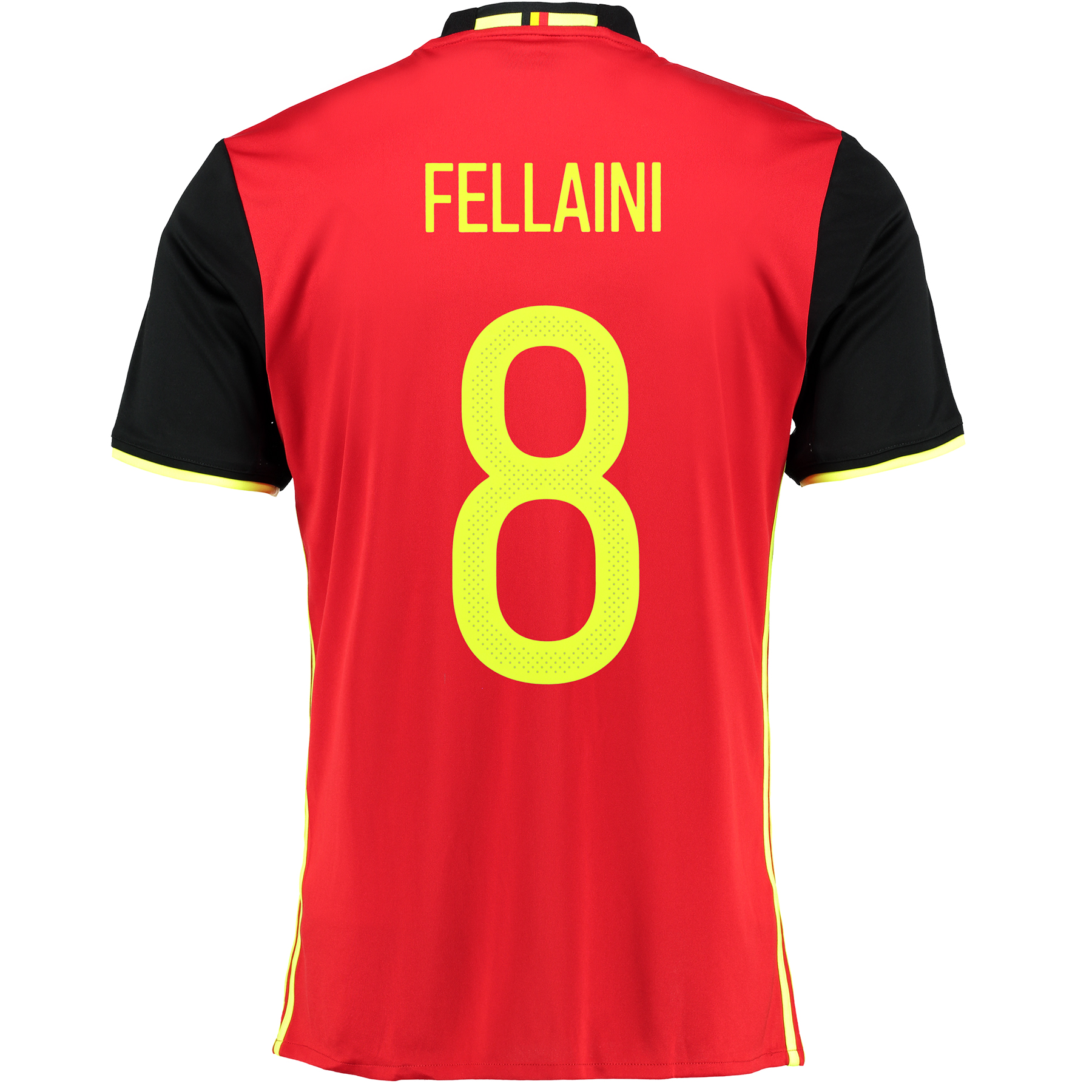 Belgium Home Shirt 2016 Red with Fellaini 8 printing