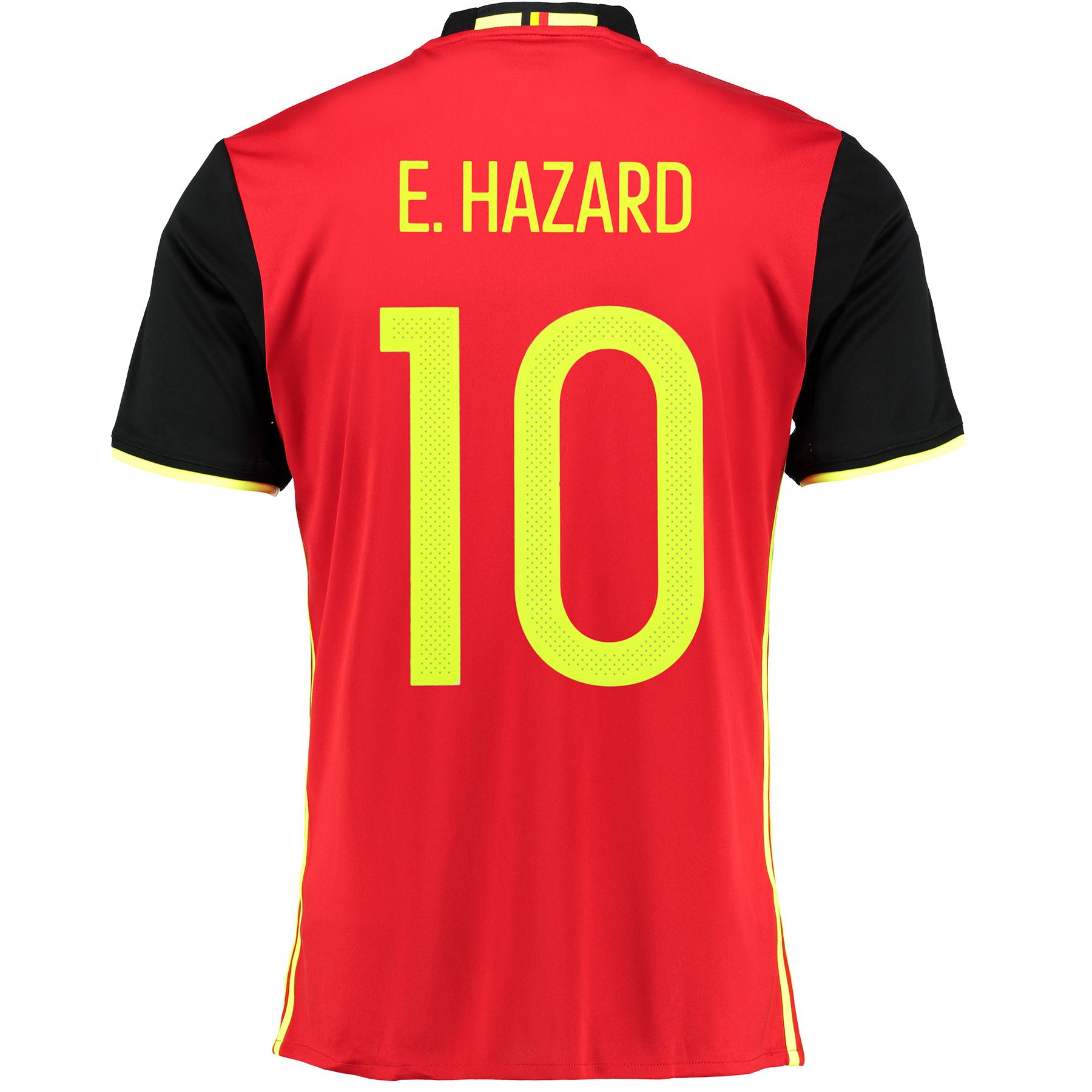 Belgium Home Shirt 2016 Red with Hazard 10 printing