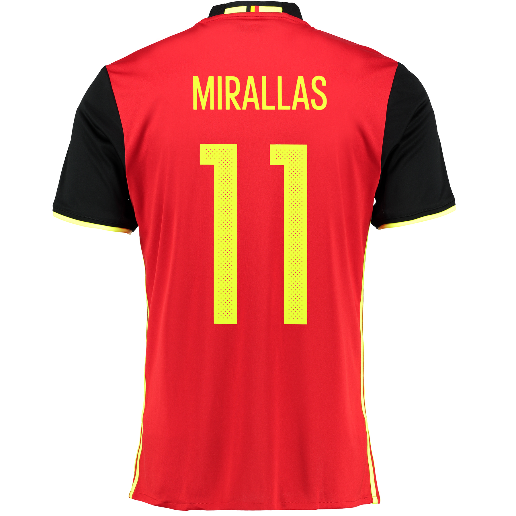 Belgium Home Shirt 2016 Red with Mirallas 11 printing