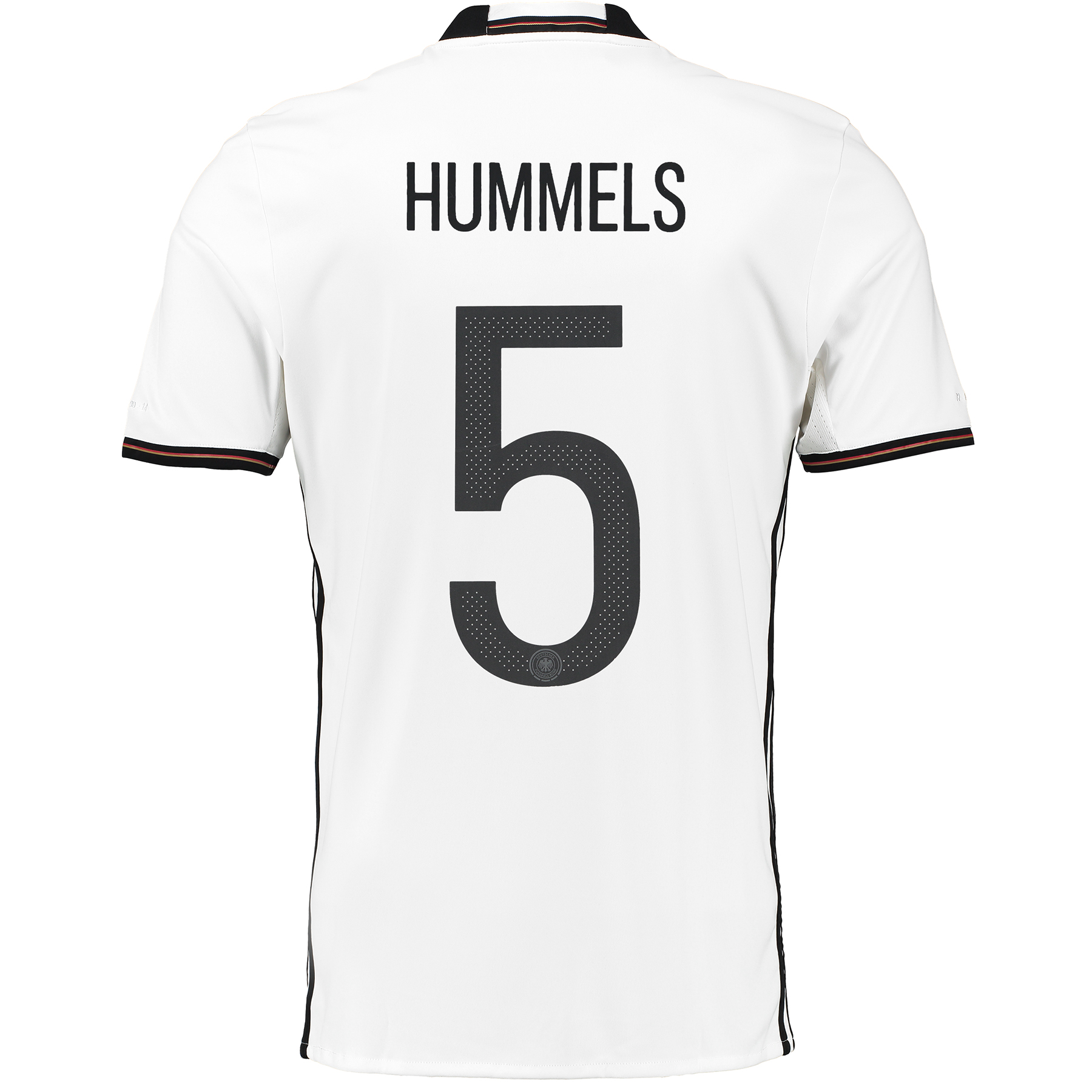Germany Home Shirt 2016 White with Hummels 5 printing