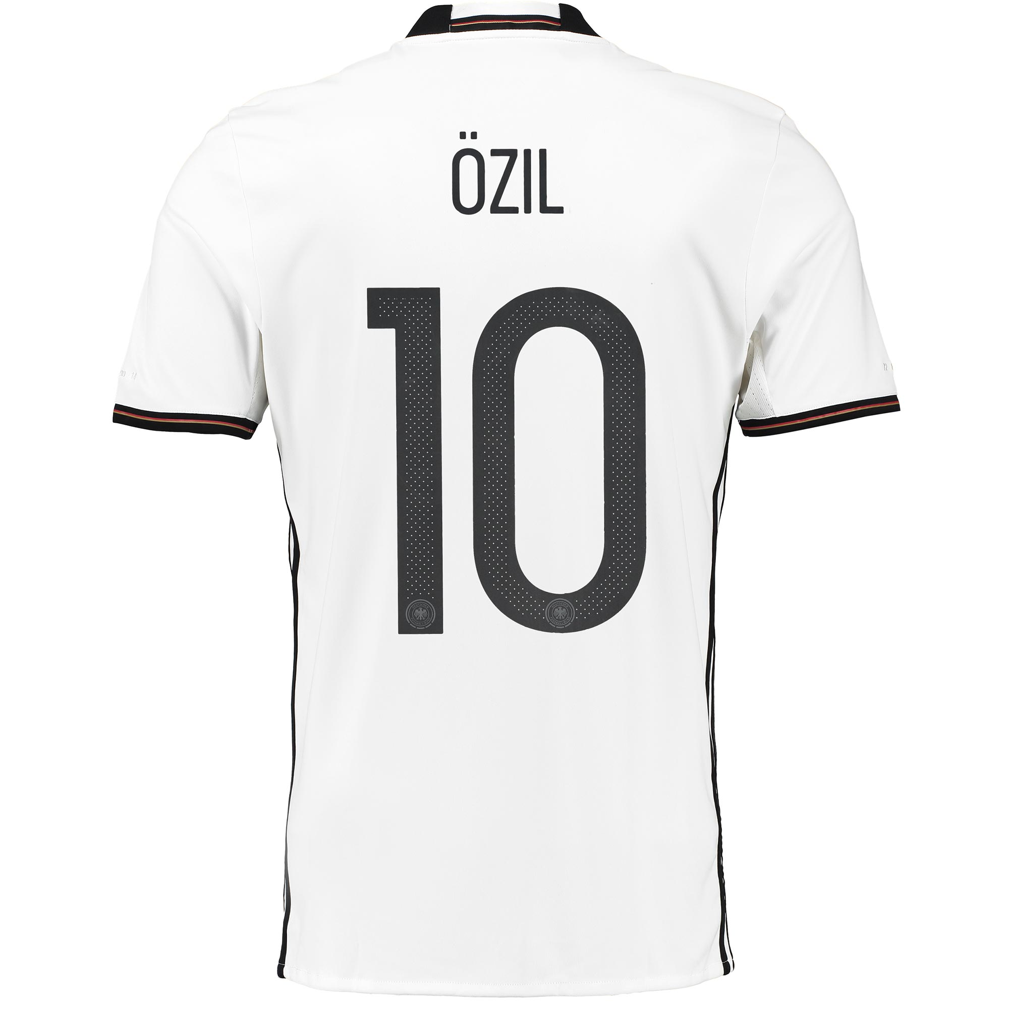 Germany Home Shirt 2016 White with Ozil 10 printing