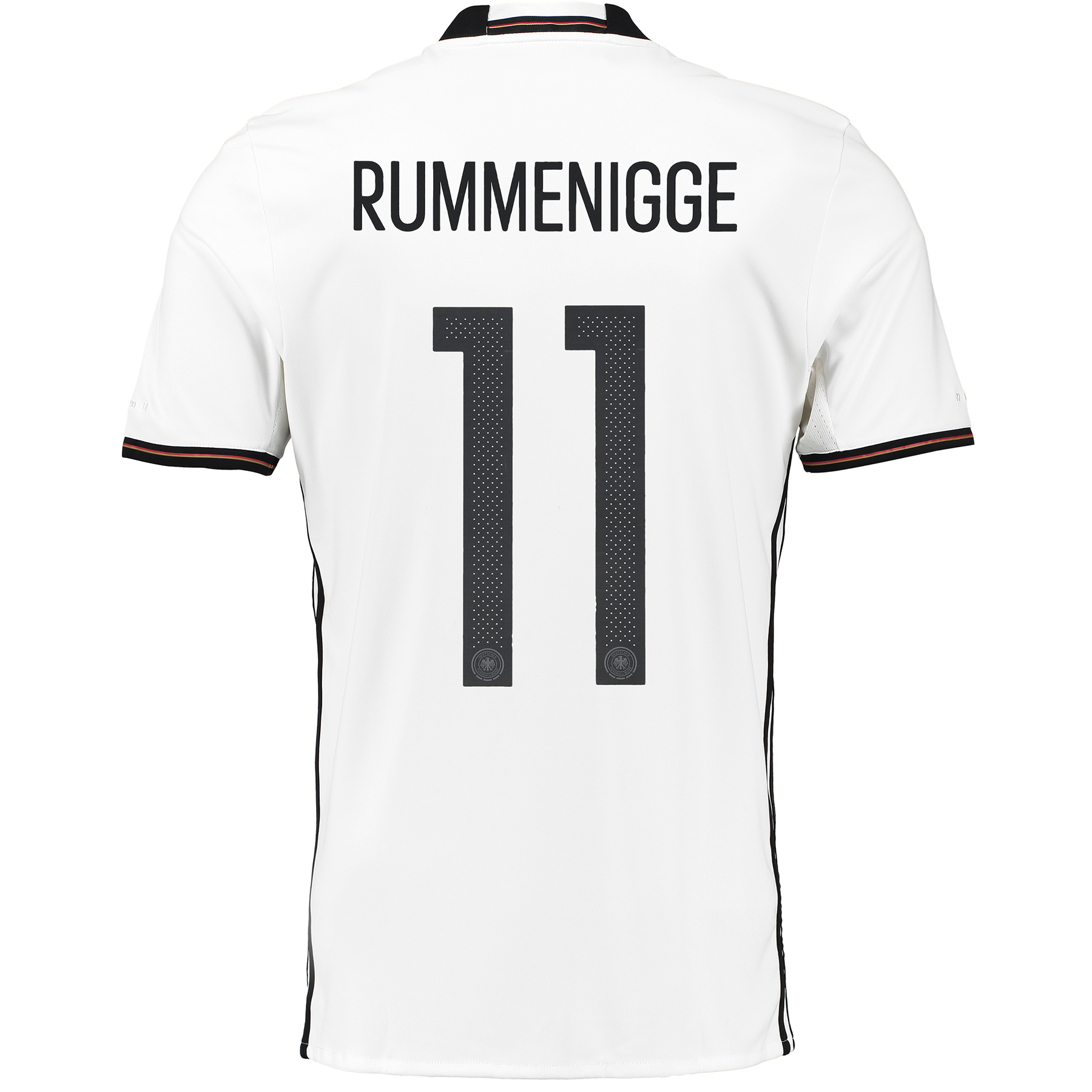 Germany Home Shirt 2016 White with Rummenigge 11 printing
