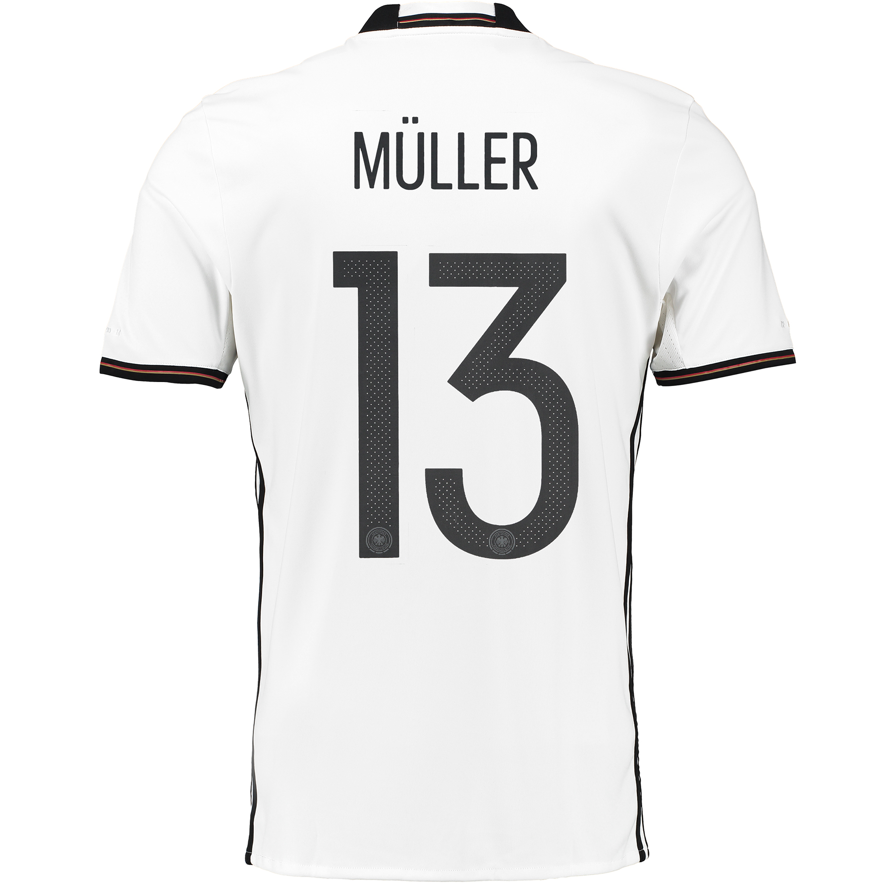 Germany Home Shirt 2016 White with Muller 13 printing