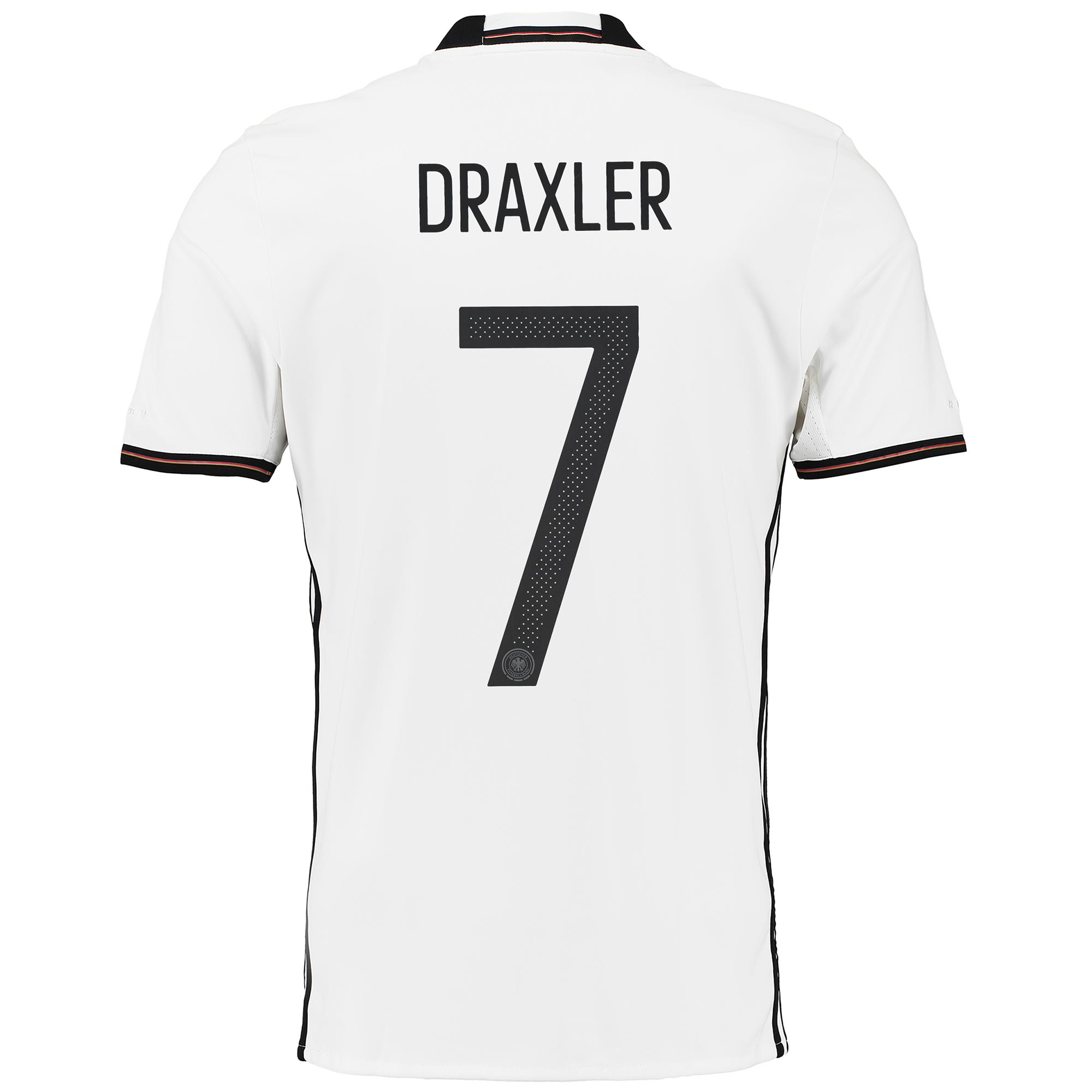 Germany Home Shirt 2016 White with Draxler 7 printing