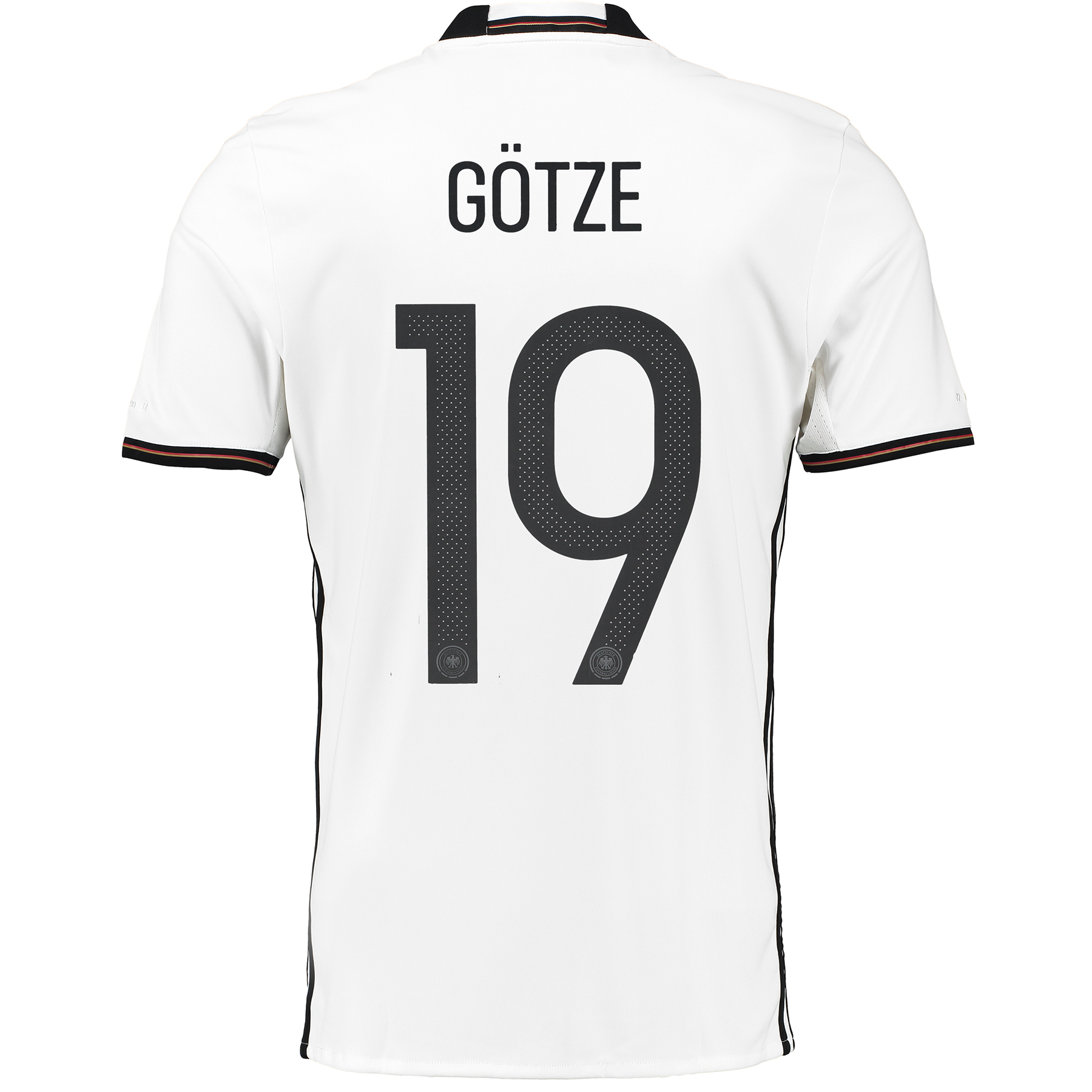 Germany Home Shirt 2016 White with Götze 19 printing