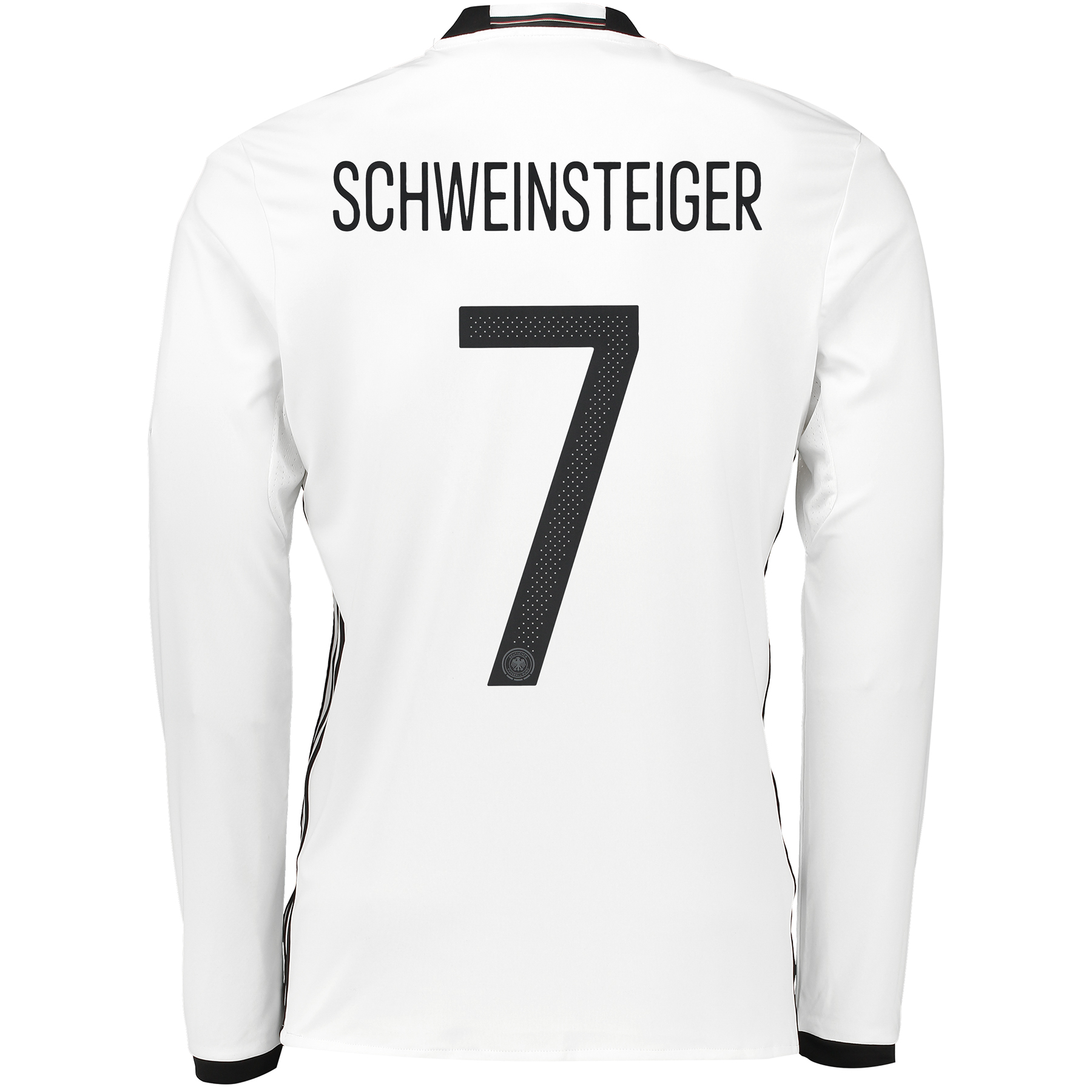 Germany Home Shirt 2016 - Long Sleeve White with Schweinsteiger 7 prin