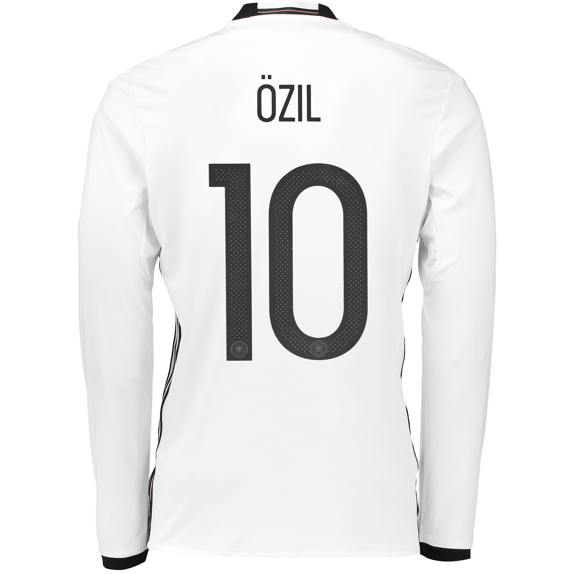 Germany Home Shirt 2016 - Long Sleeve White with Ozil 10 printing
