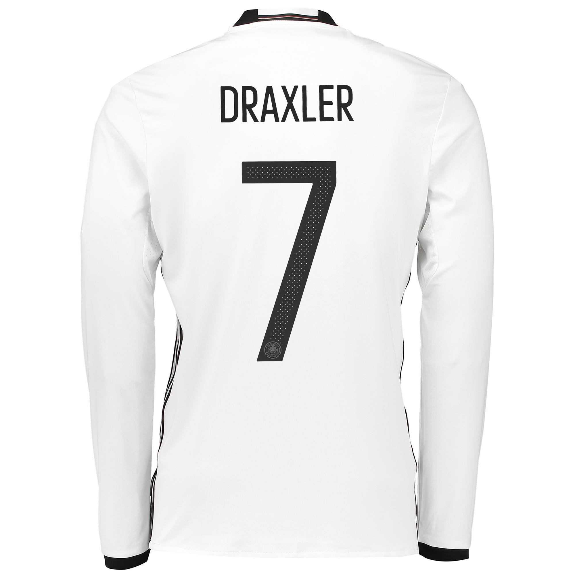 Germany Home Shirt 2016 - Long Sleeve White with Draxler 7 printing