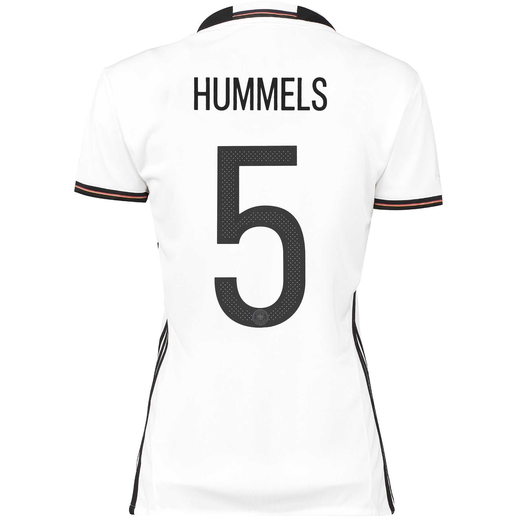 Image of Germany Home Shirt 2016 - Womens White with Hummels 5 printing, White