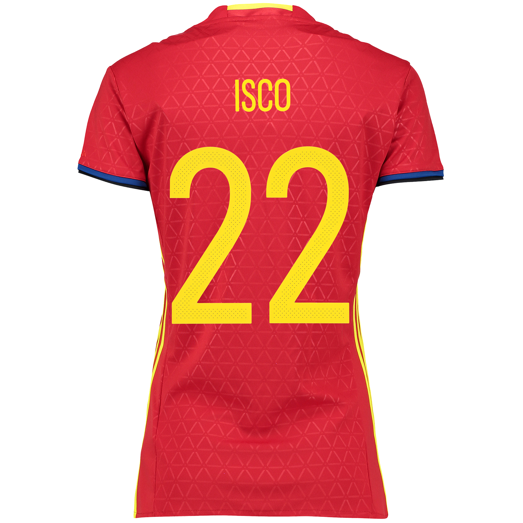 Spain Home Shirt 2016 - Womens Red with Isco 22 printing