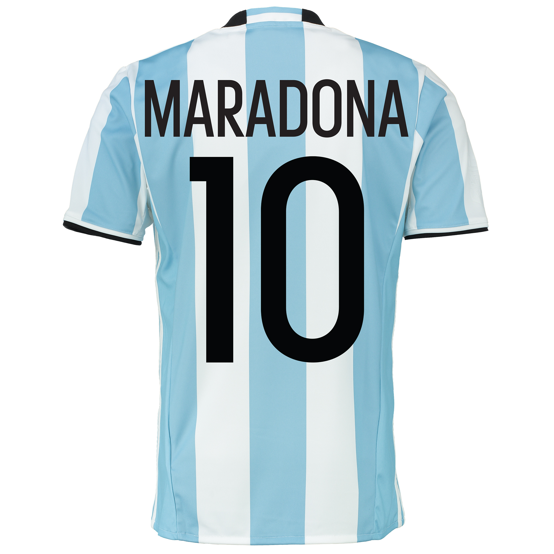 Argentina Home Shirt 2016 Lt Blue with Maradona 10 printing