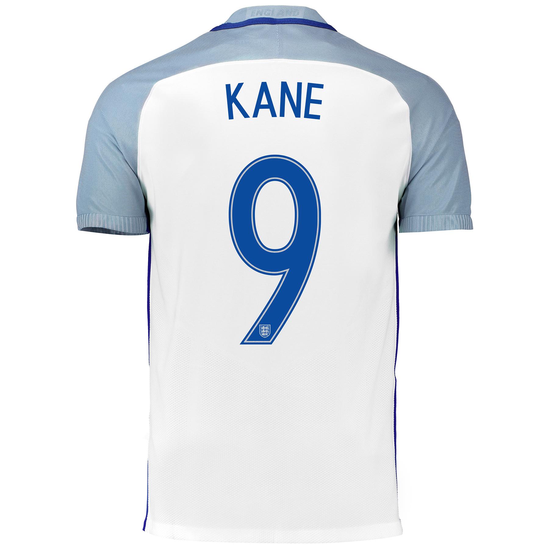England Home Match Shirt 2016 with Kane 9 printing