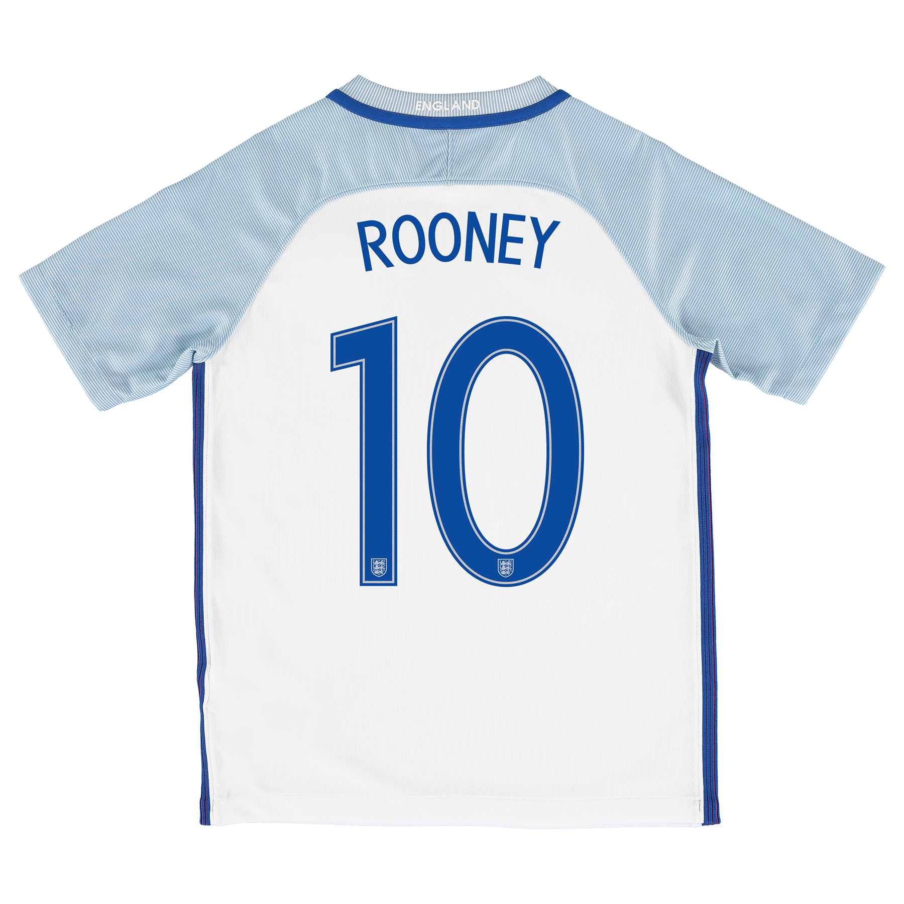 England Home Shirt 2016 - Kids with Rooney 10 printing